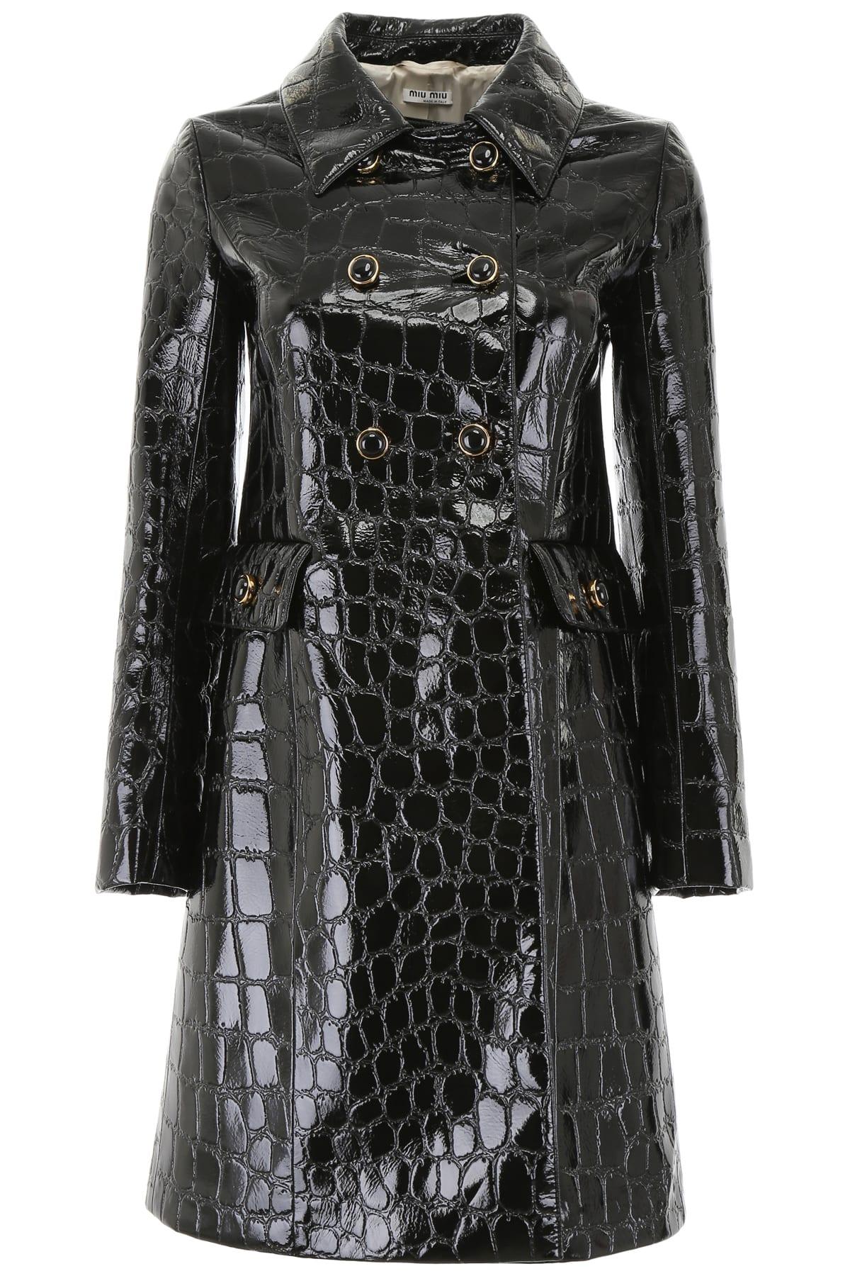 Miu Miu Croc-print Coat