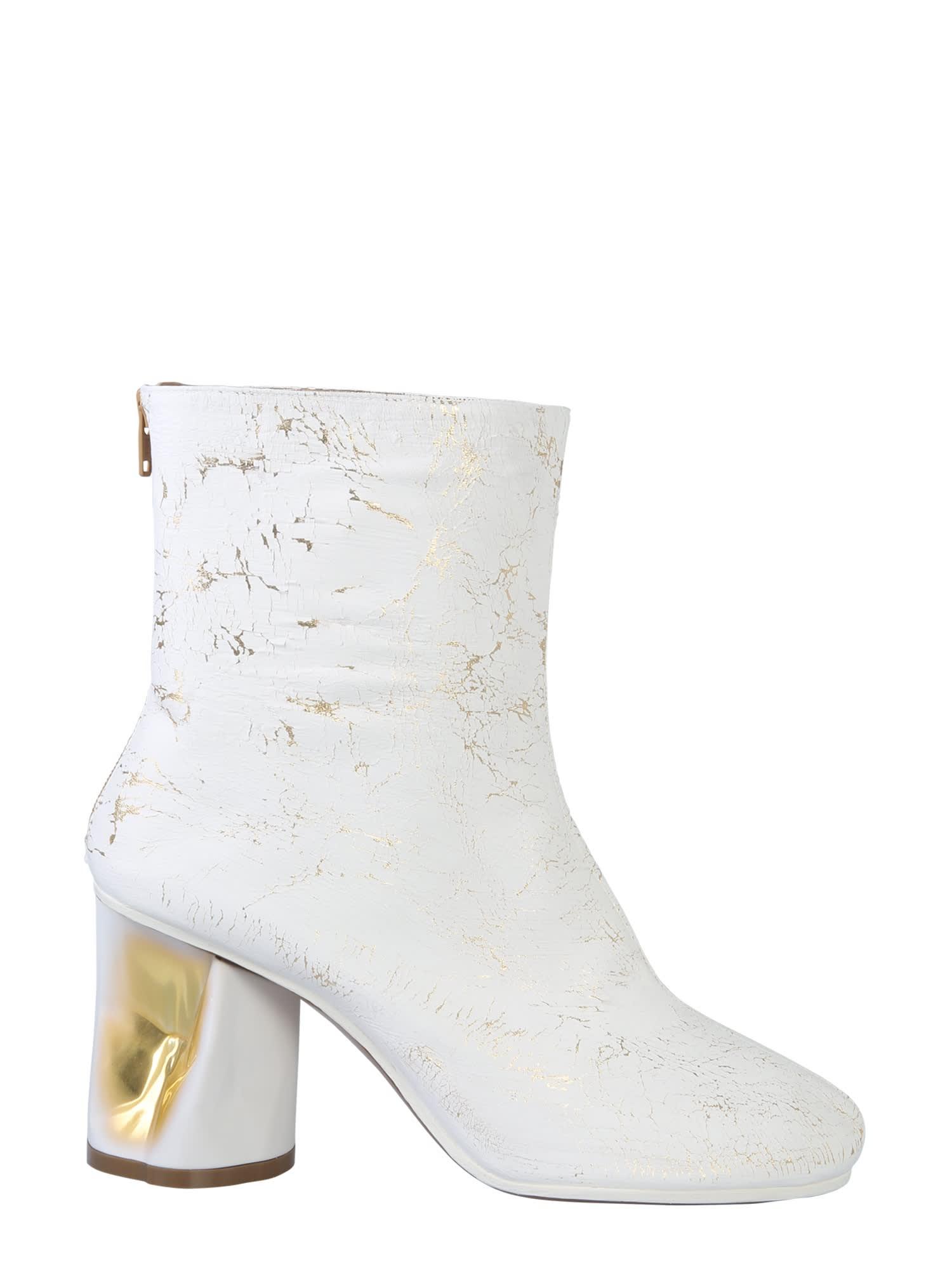 Buy Maison Margiela Crushed Heel Boot online, shop Maison Margiela shoes with free shipping