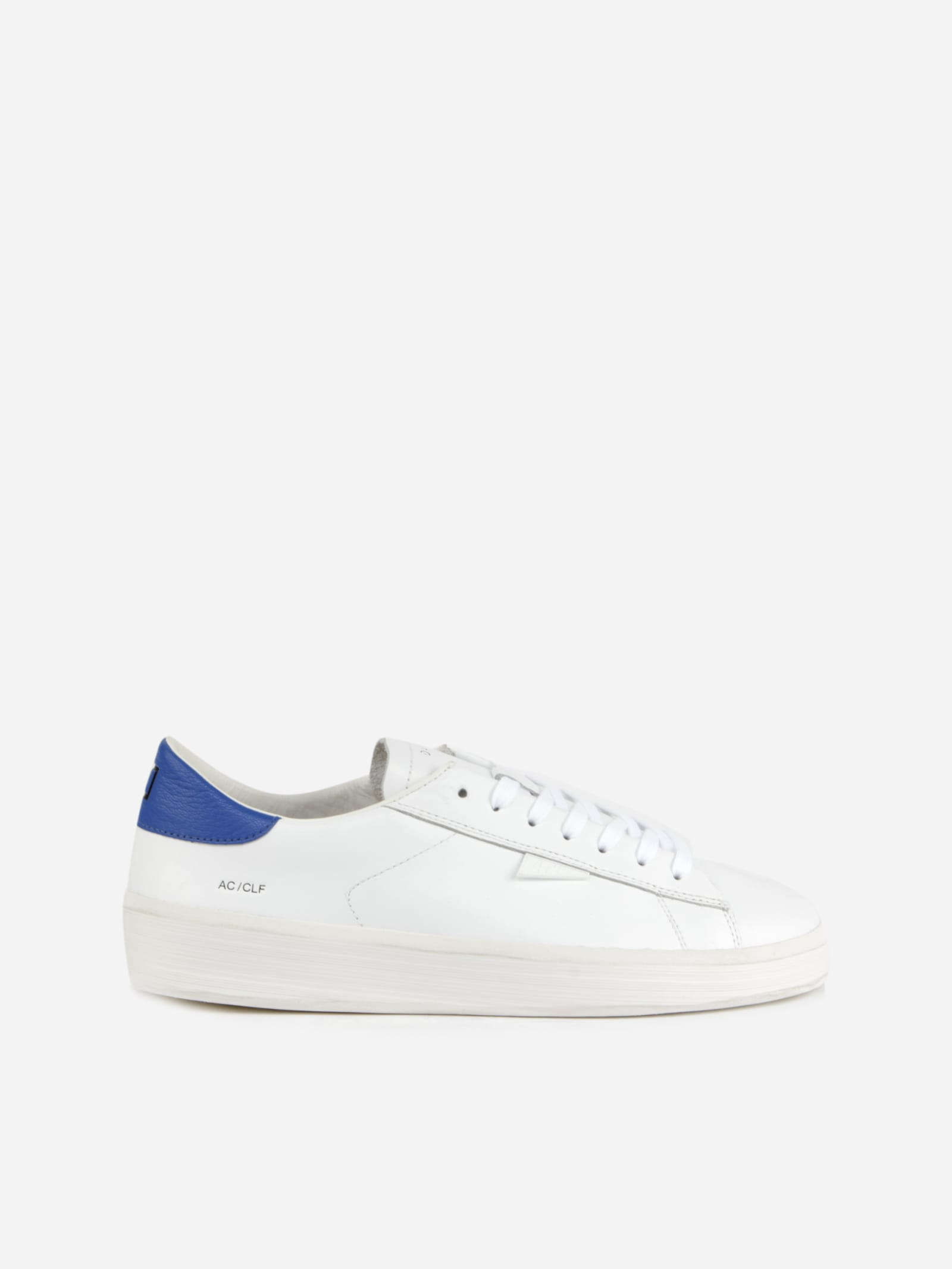 Low Sneakers In Leather With Contrasting Heel Tab