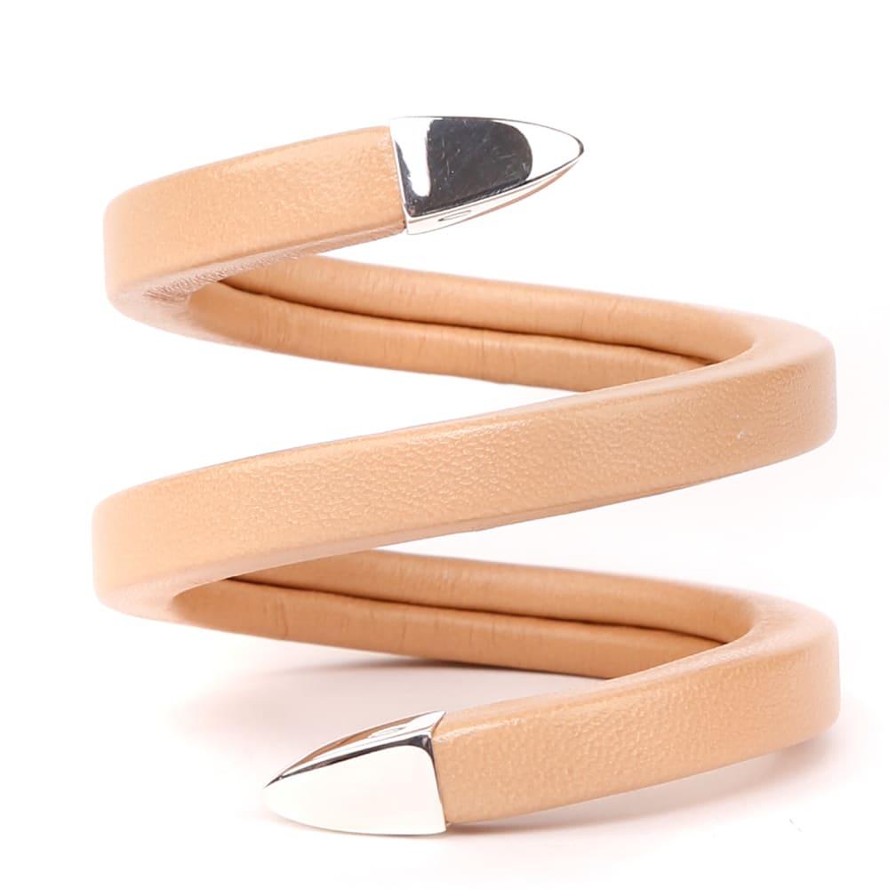 Bottega Veneta Powder Nappa Spiral Bracelet
