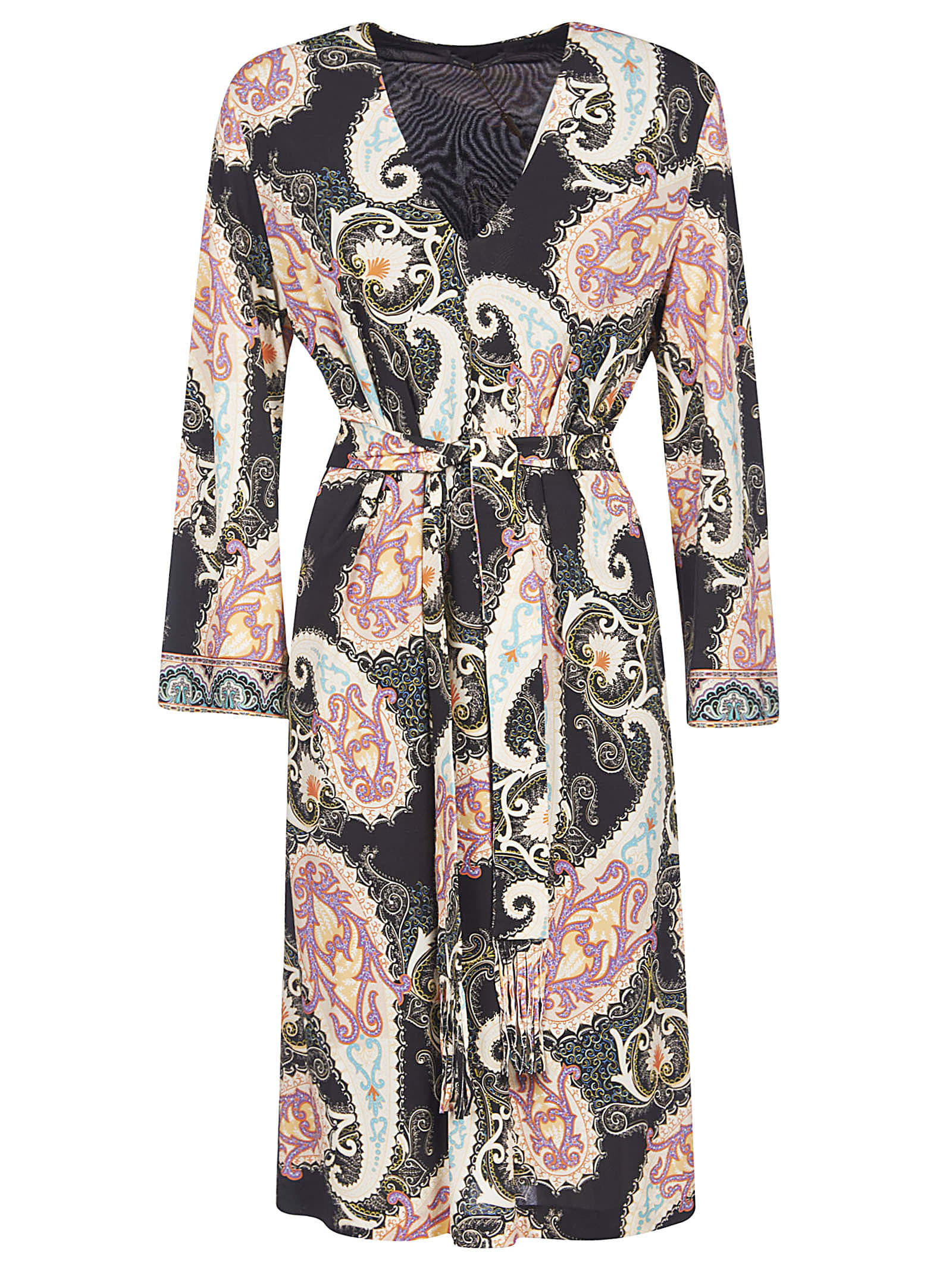 Buy Etro Paisley Print Belted Dress online, shop Etro with free shipping