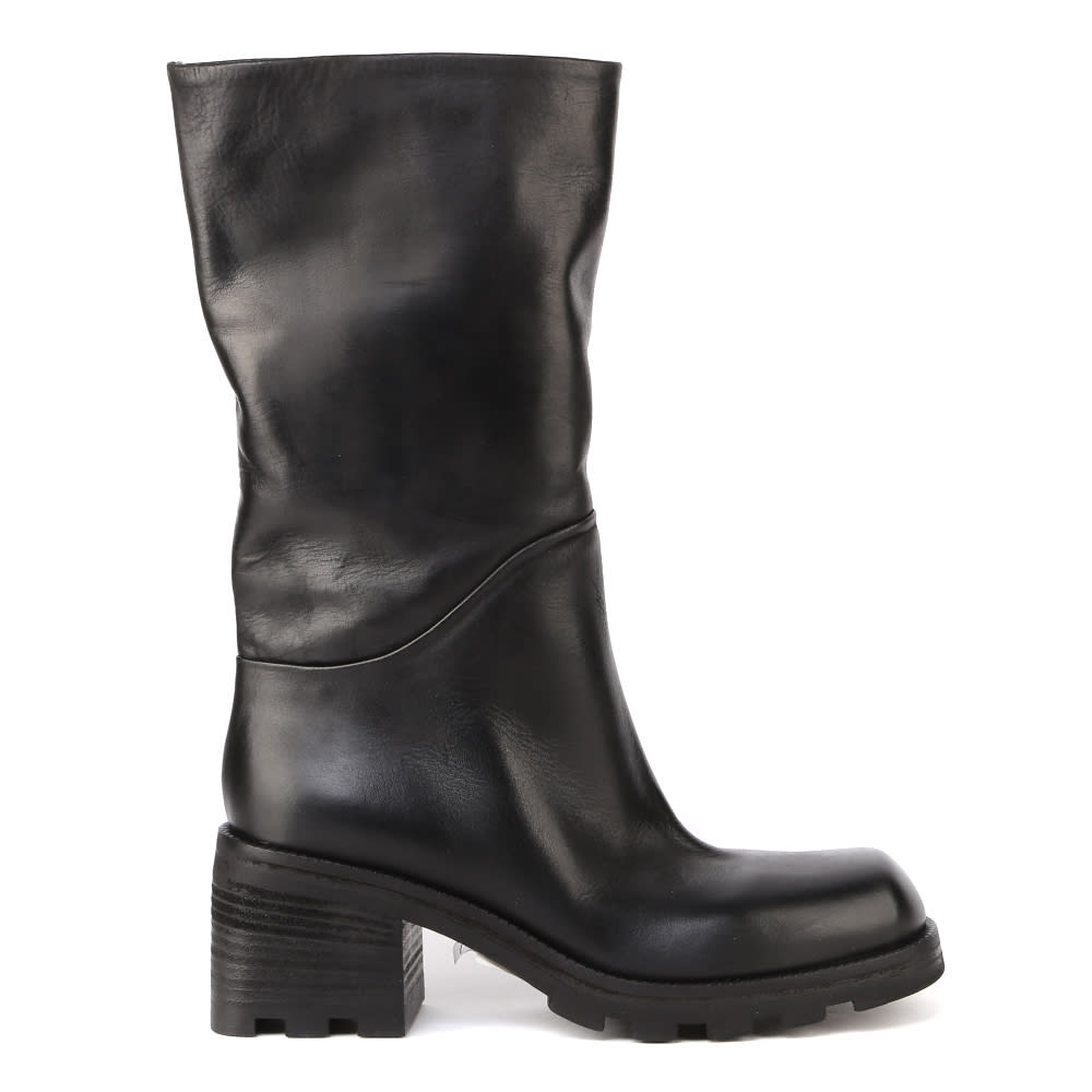 Smooth Calfskin Ankle Boots
