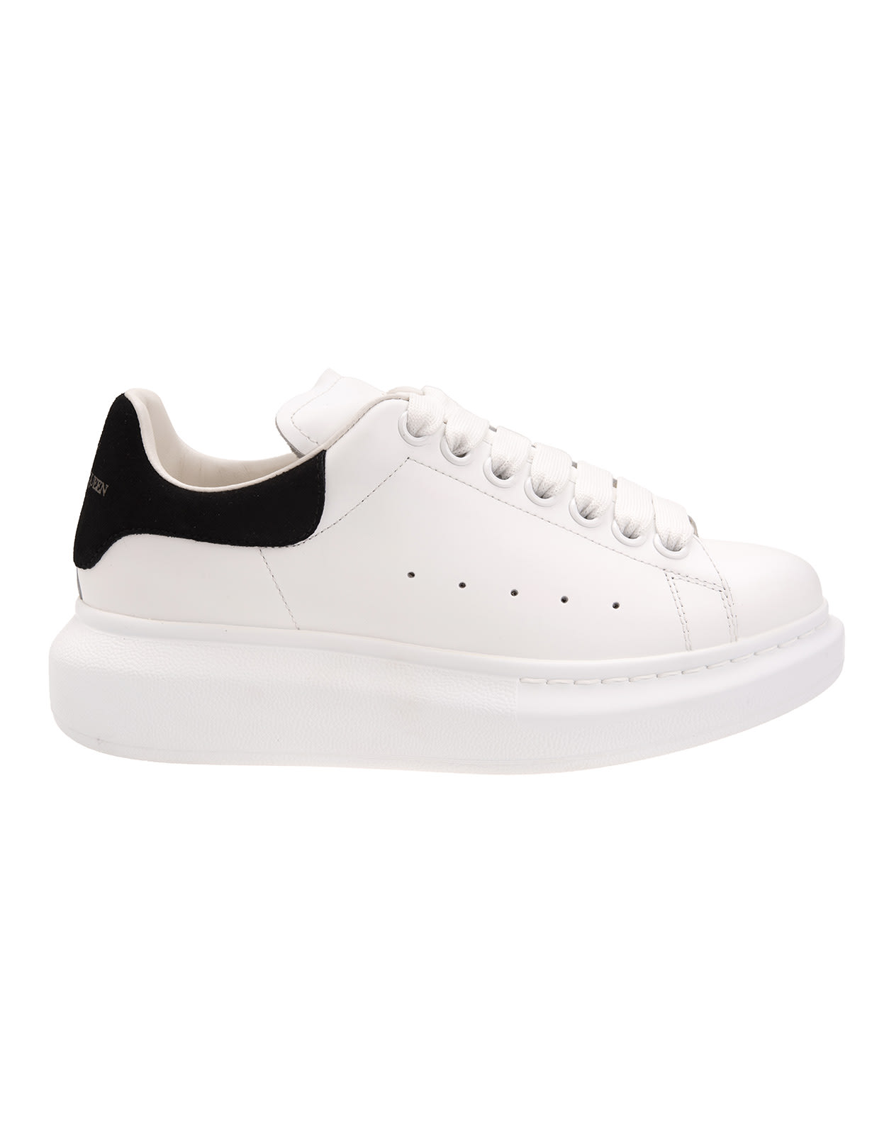 Alexander McQueen Woman White And Black Oversize Sneakers