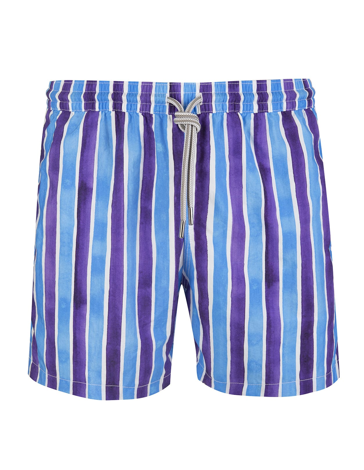 Blue And Purple Striped Swimsuit