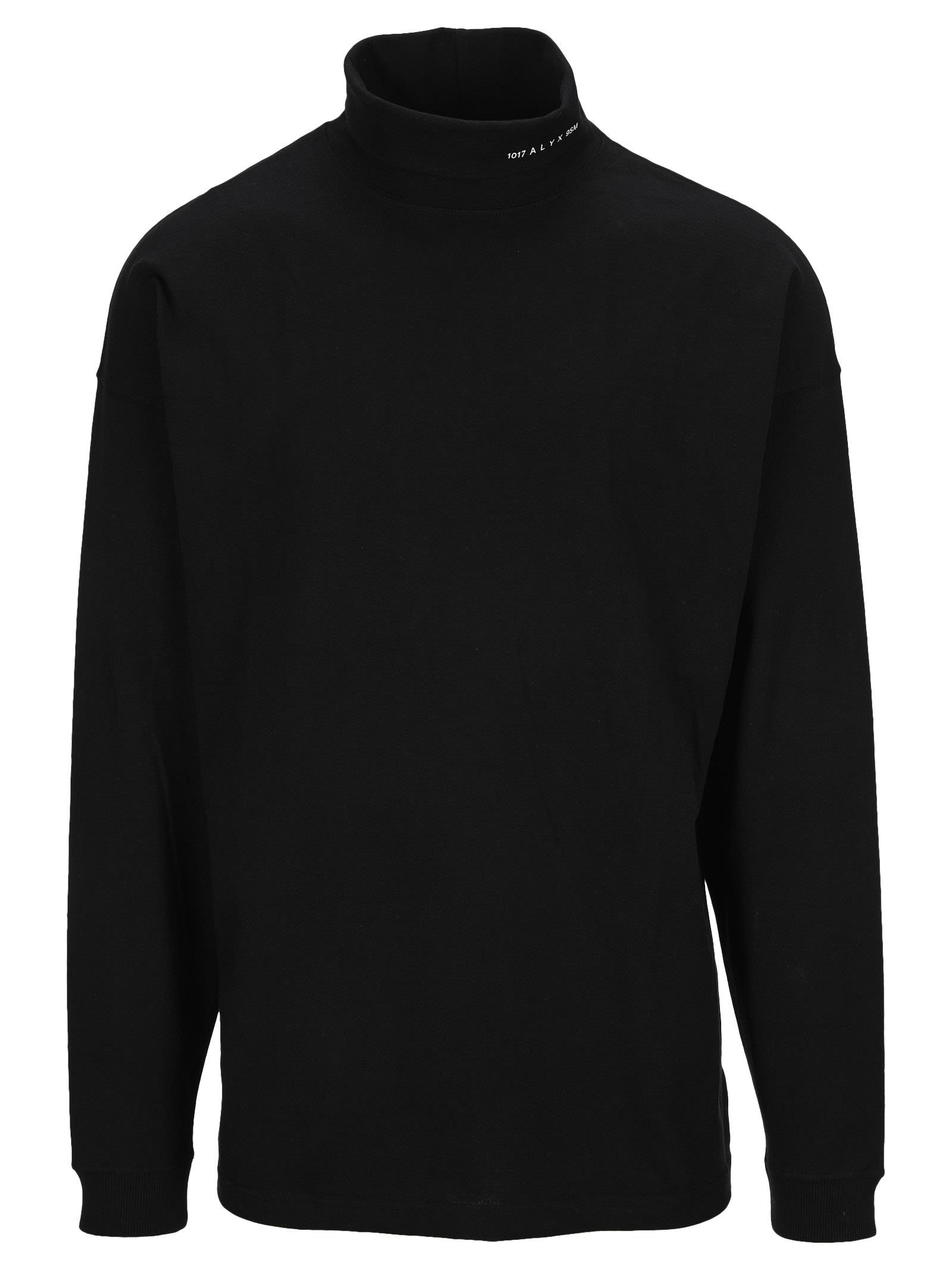 Alyx Logo-print Roll Neck Sweatshirt In Black