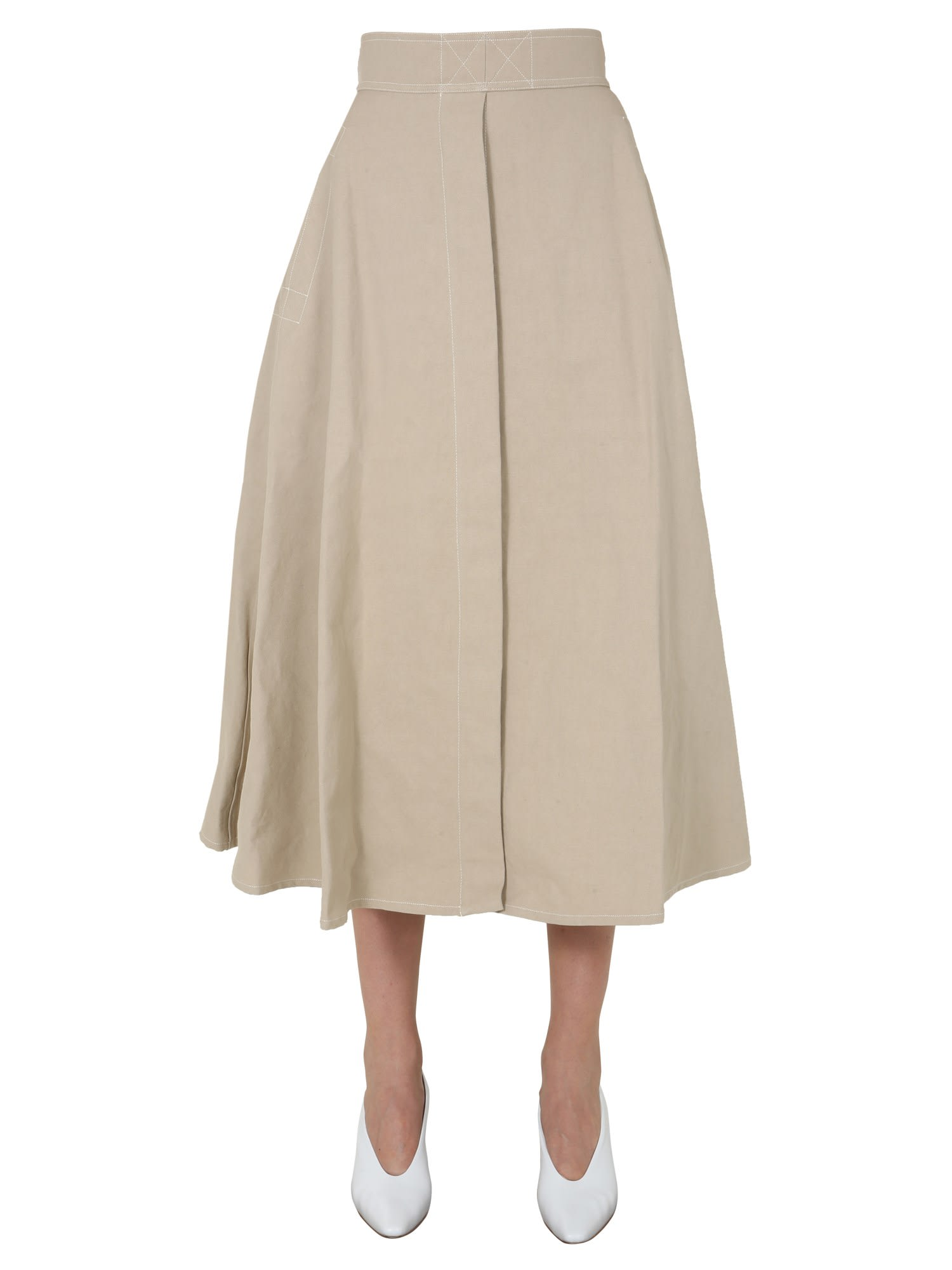 Lemaire Cottons FLARED SKIRT