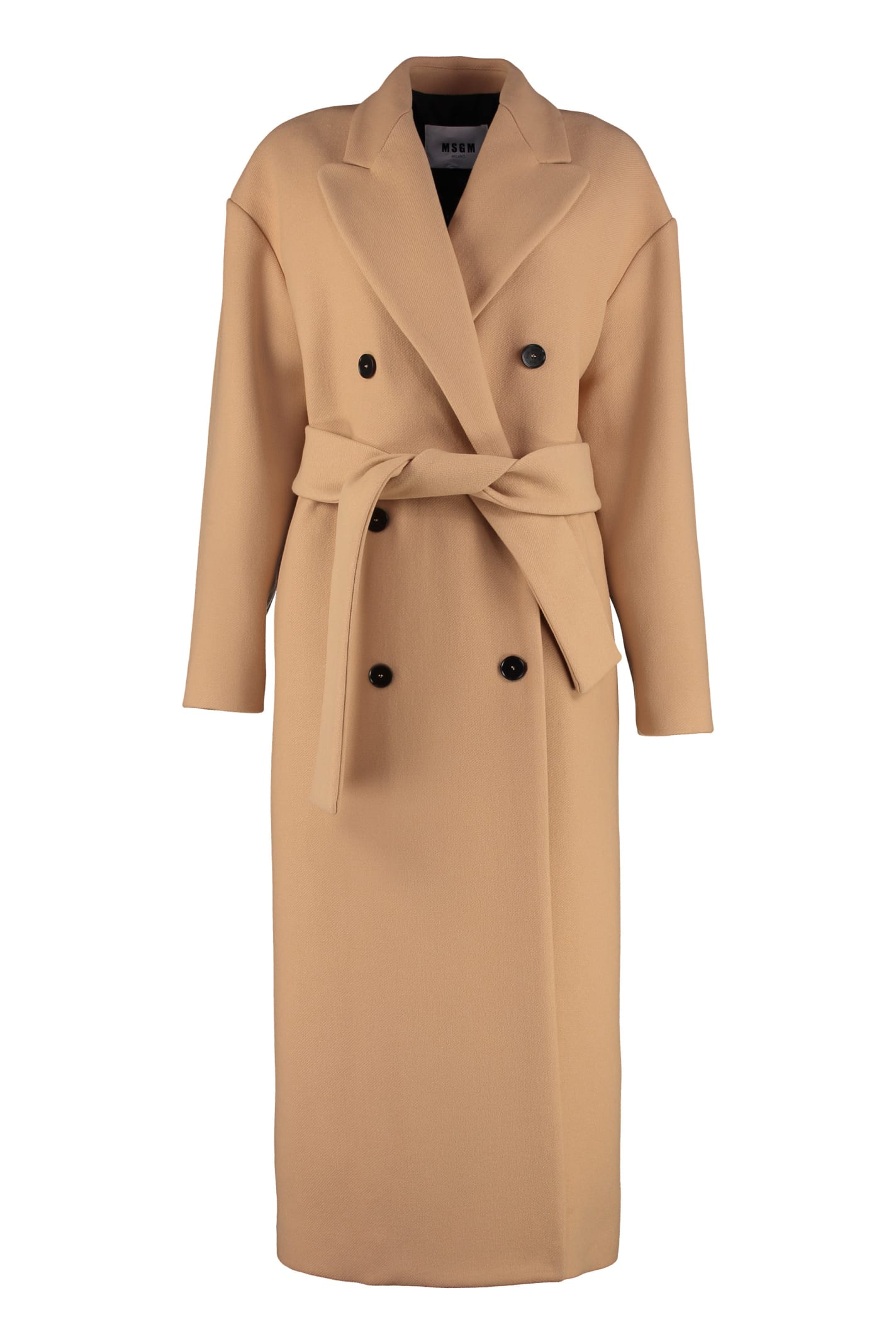 Photo of  MSGM Virgin Wool Long Coat- shop MSGM jackets online sales