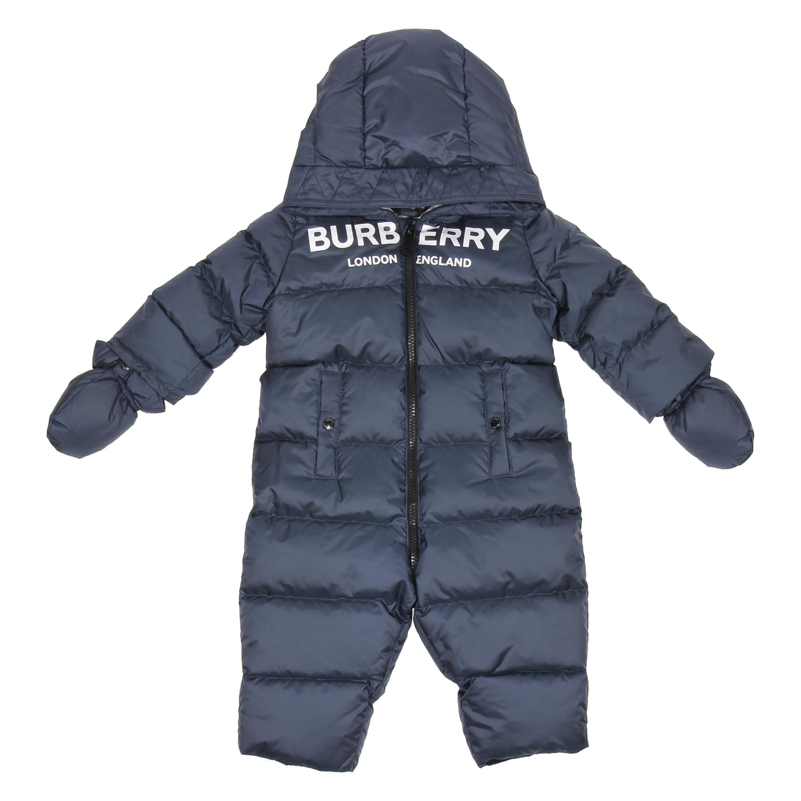 Burberry Babies' Jumpsuit In Blu
