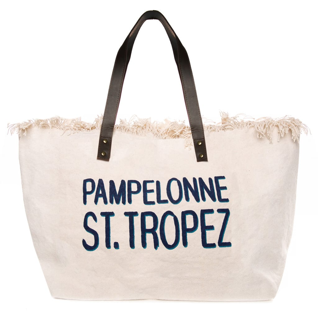 Pampelonne Print Canvas Bag With Leather Handles