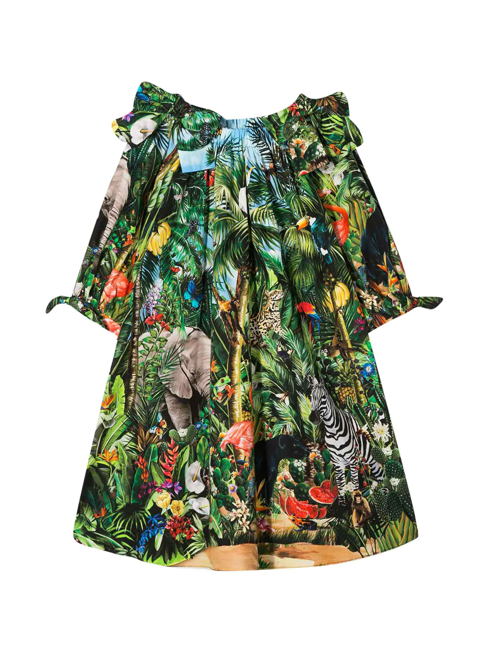 Buy Dolce & Gabbana Girl Patterned Dress online, shop Dolce & Gabbana with free shipping