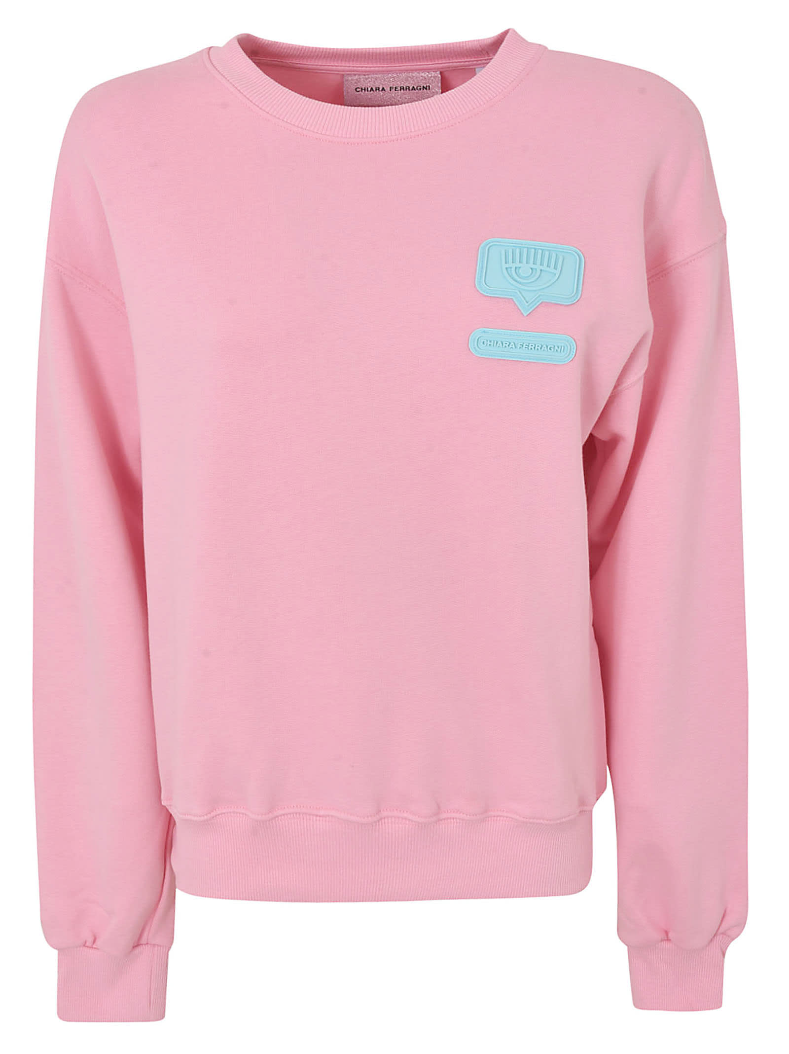 Chiara Ferragni Logo Patched Sweatshirt