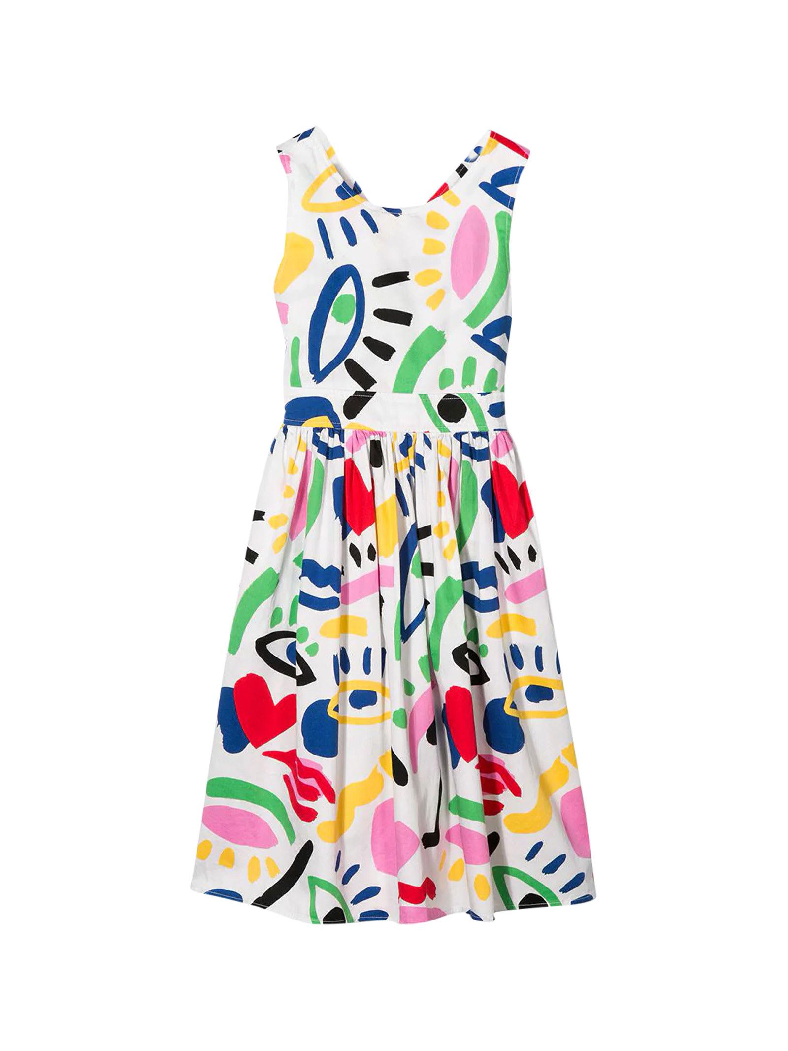 Buy Stella McCartney Kids White Dress online, shop Stella McCartney Kids with free shipping