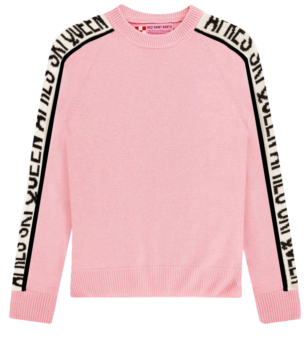 Queen Ski Cashmere Blended Pink Womans Sweater