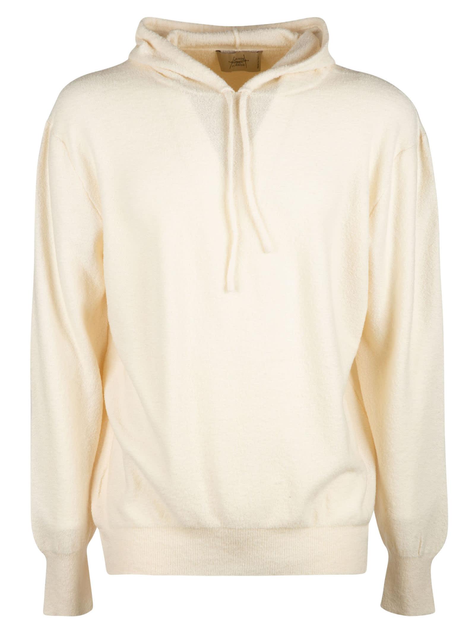 Rib Hooded Plain Sweater
