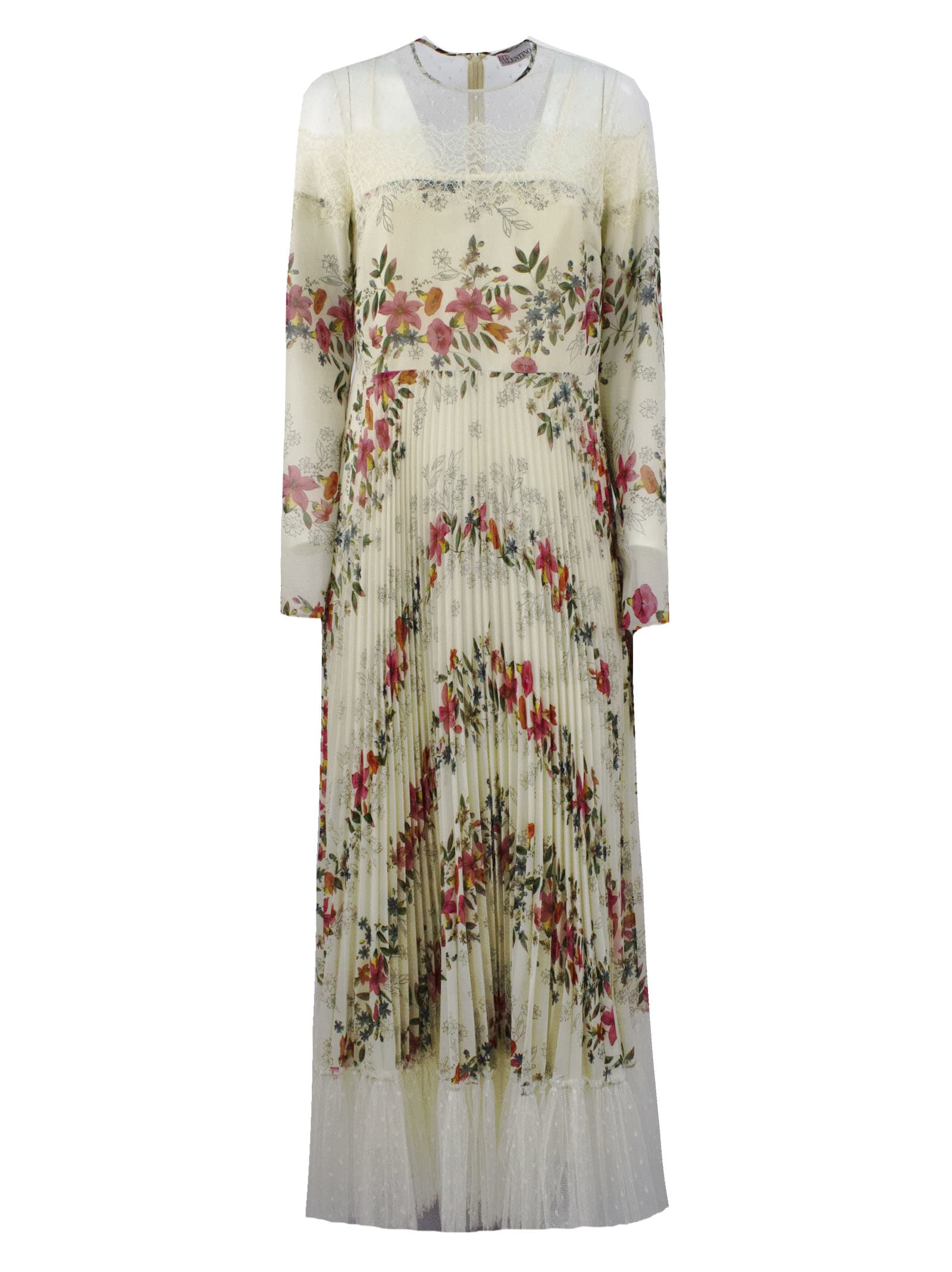 Buy RED Valentino Floral Flounces Printed Muslin Dress online, shop RED Valentino with free shipping
