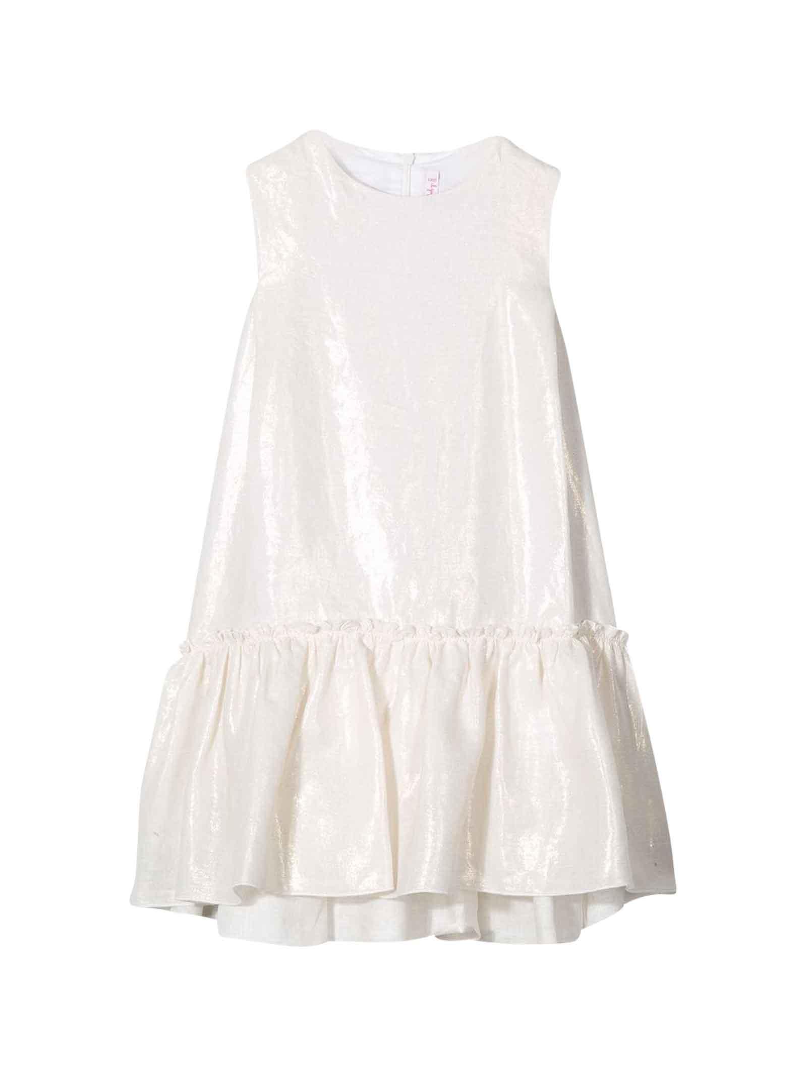 Buy Il Gufo White Kids Dress online, shop Il Gufo with free shipping