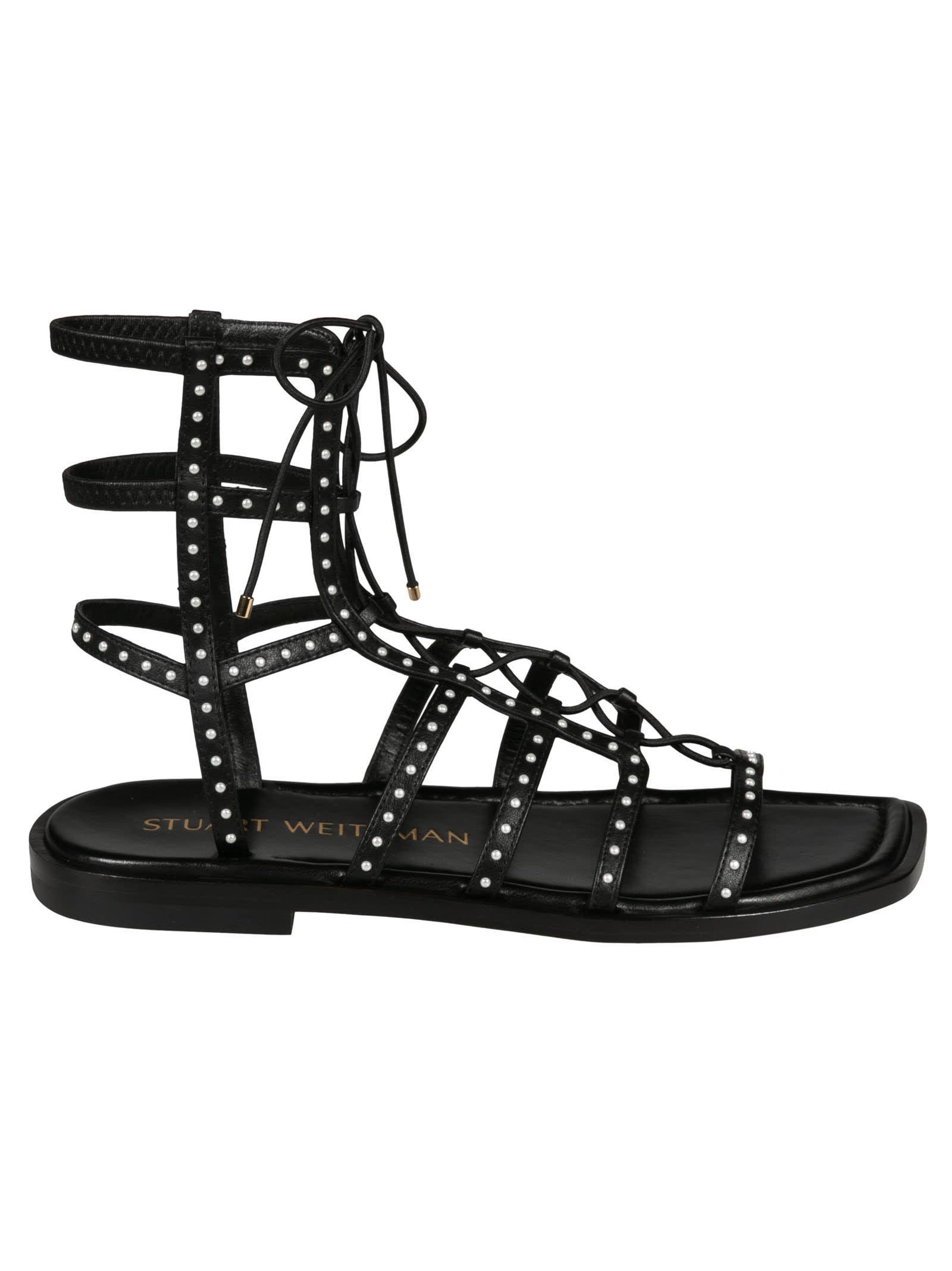 Buy Stuart Weitzman Kora Lace Up Sandals online, shop Stuart Weitzman shoes with free shipping