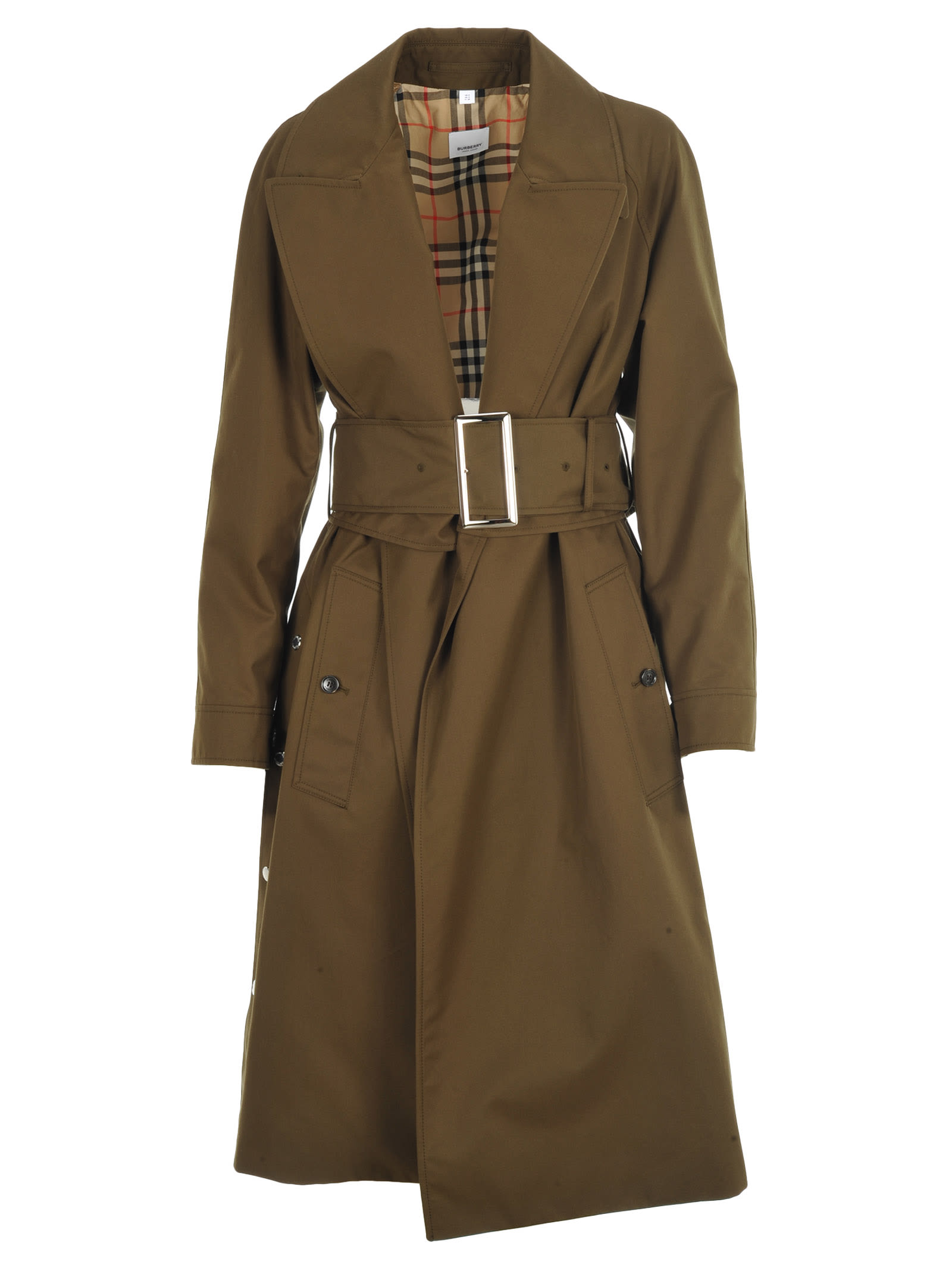 Burberry London Cotton Gabardine Belted Coat