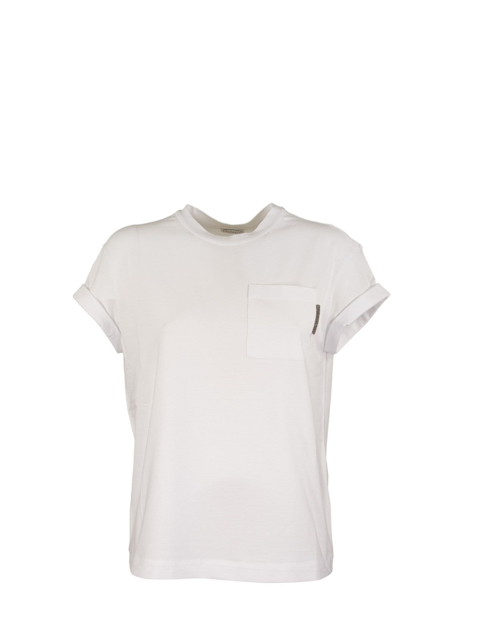 Short Sleeve T-shirt Cotton Jersey T-shirt With Precious Detail