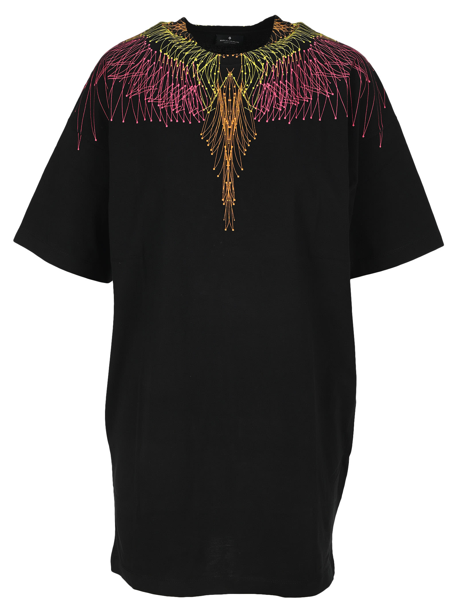 Buy Marcelo Burlon Maxi T-shirt Dress Wings online, shop Marcelo Burlon with free shipping