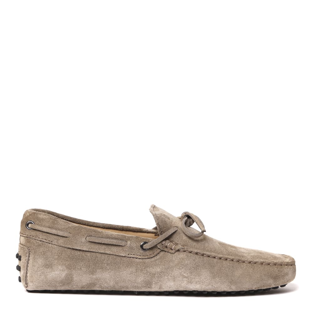 Tods Taupe Color Suede Loafer