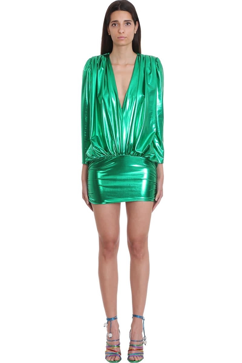 The Attico Dress In Green Polyester