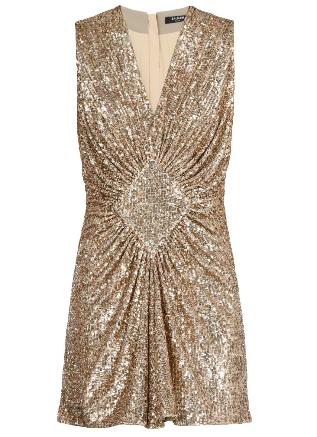Balmain Draping Dress