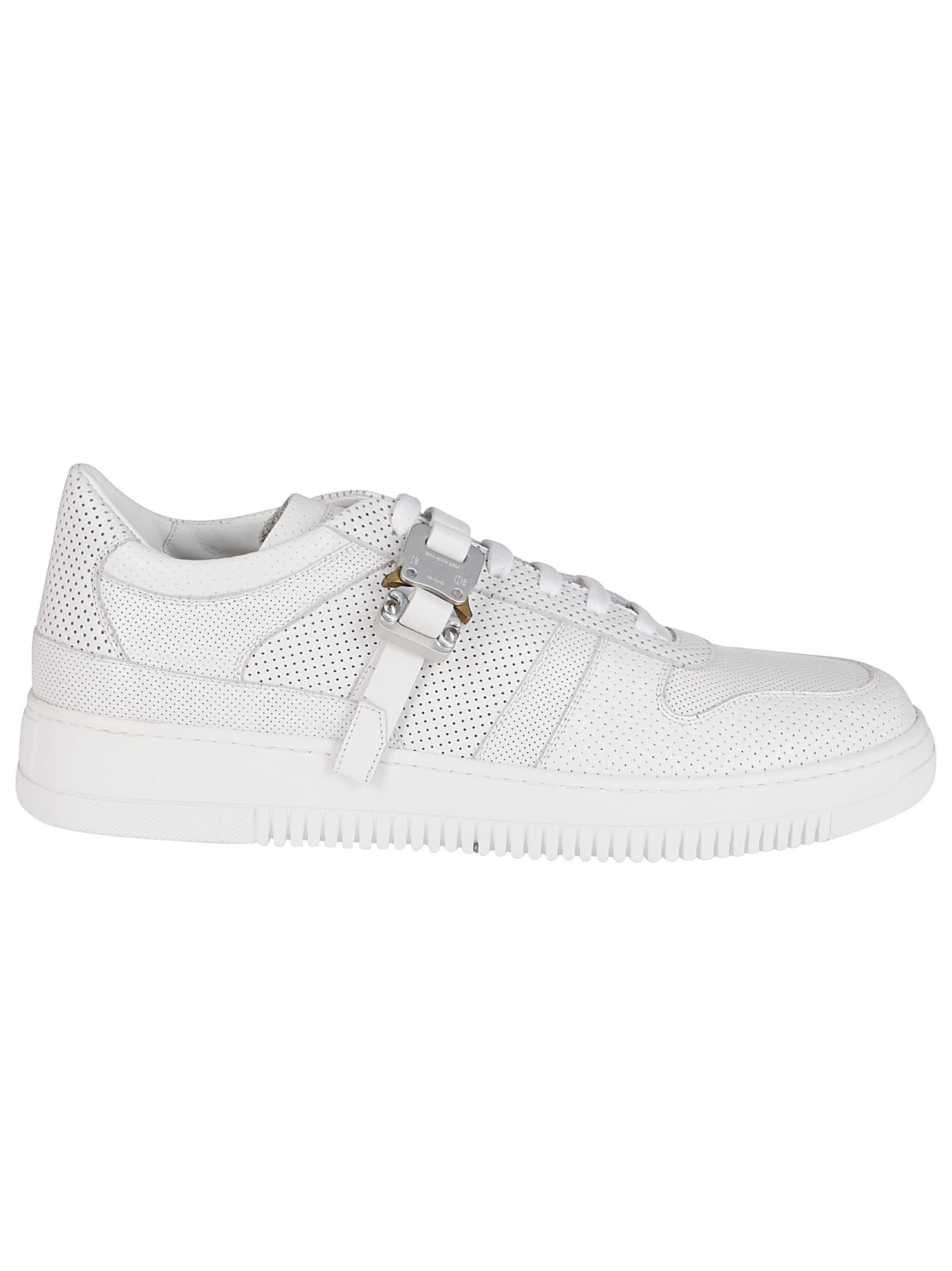 Alyx WHITE LEATHER BUCKLE SNEAKERS