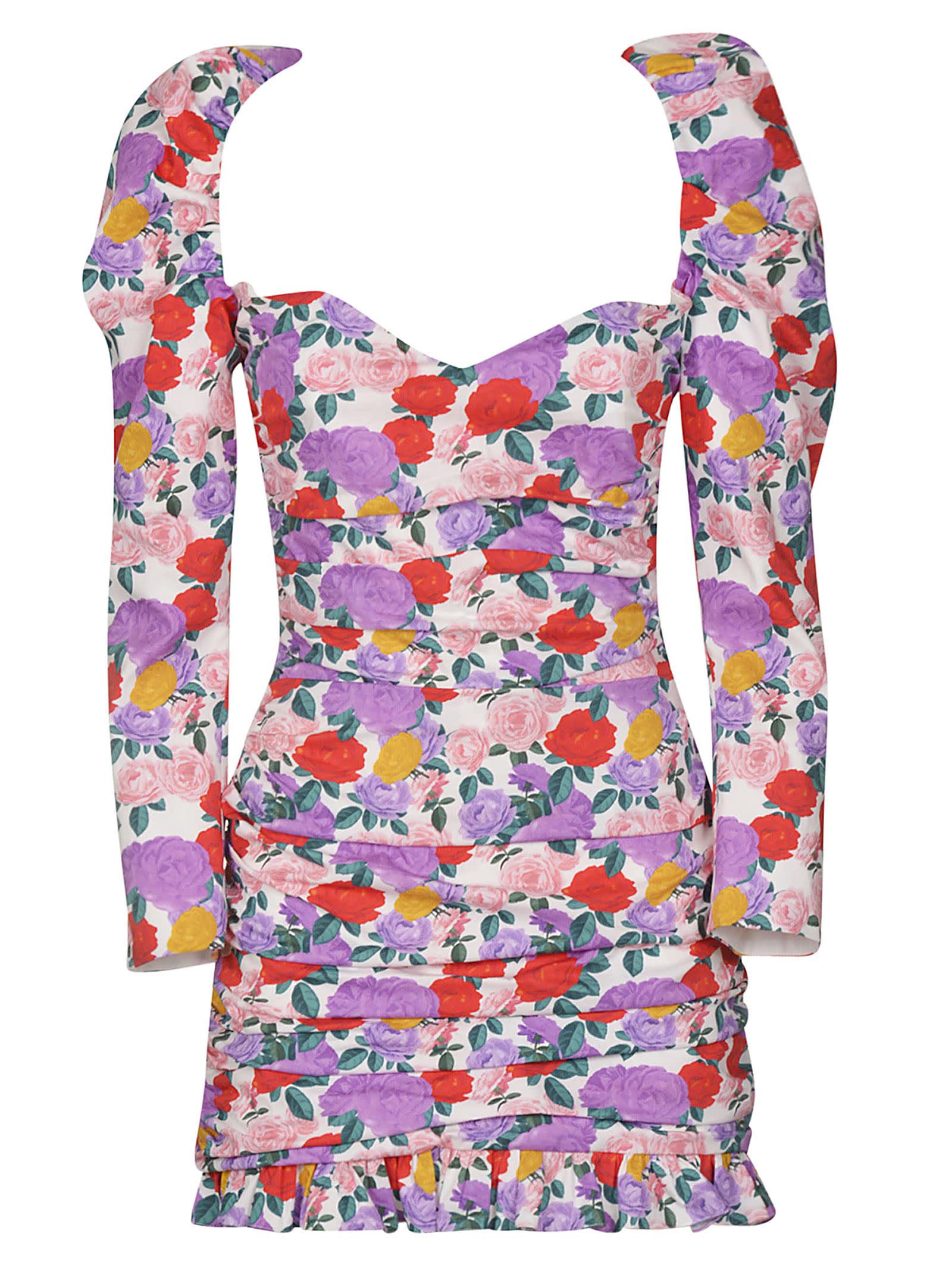 Buy Giuseppe di Morabito Floral Print Ruffled Dress online, shop Giuseppe di Morabito with free shipping