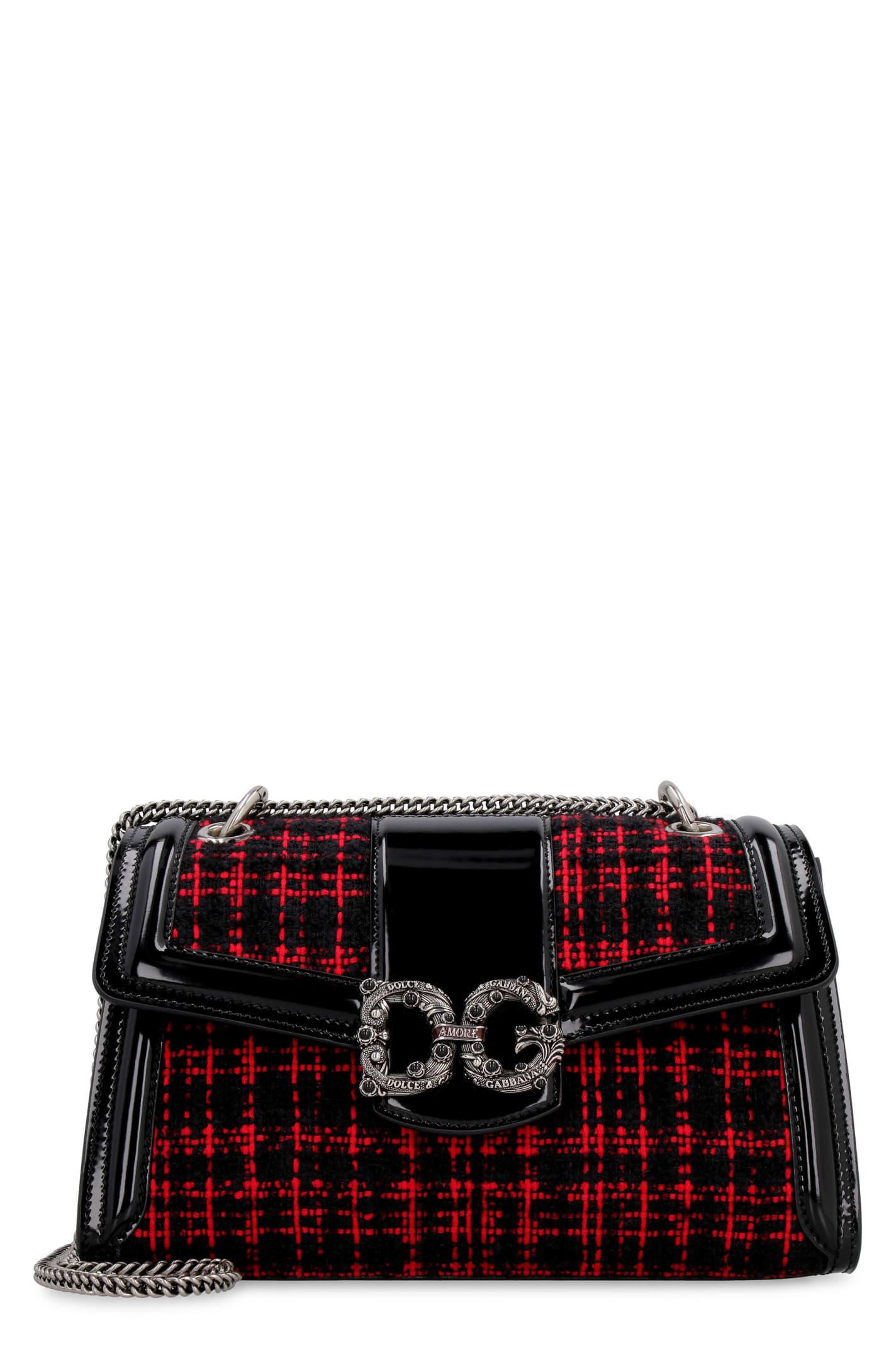 Dolce & Gabbana DG AMORE TWEED SHOULDER BAG