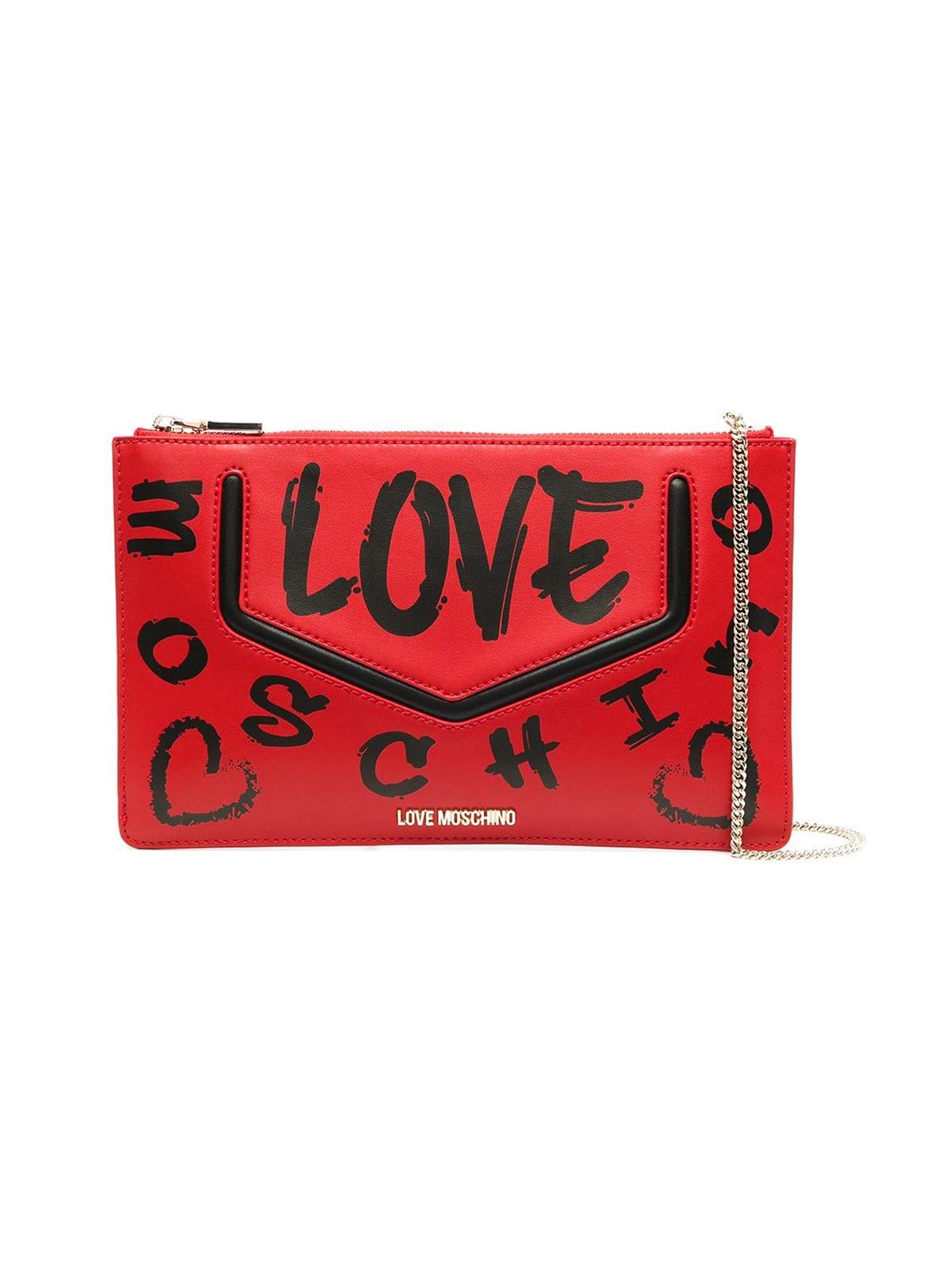 Love Moschino LOVE GRAFFITI CLUTCH