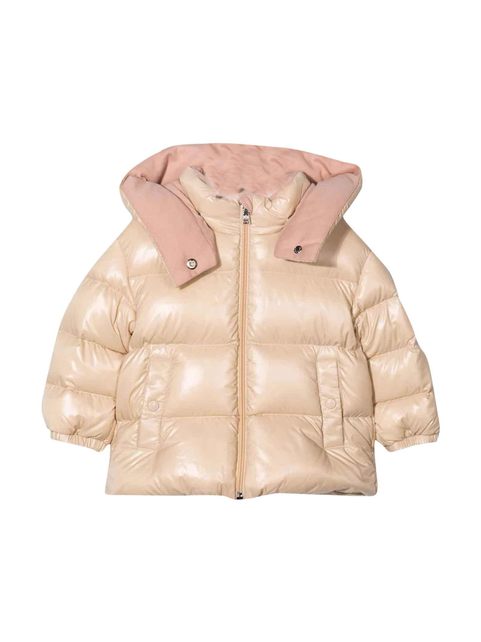 Moncler Moncler Enfant Baby Girl Pink Down Jacket