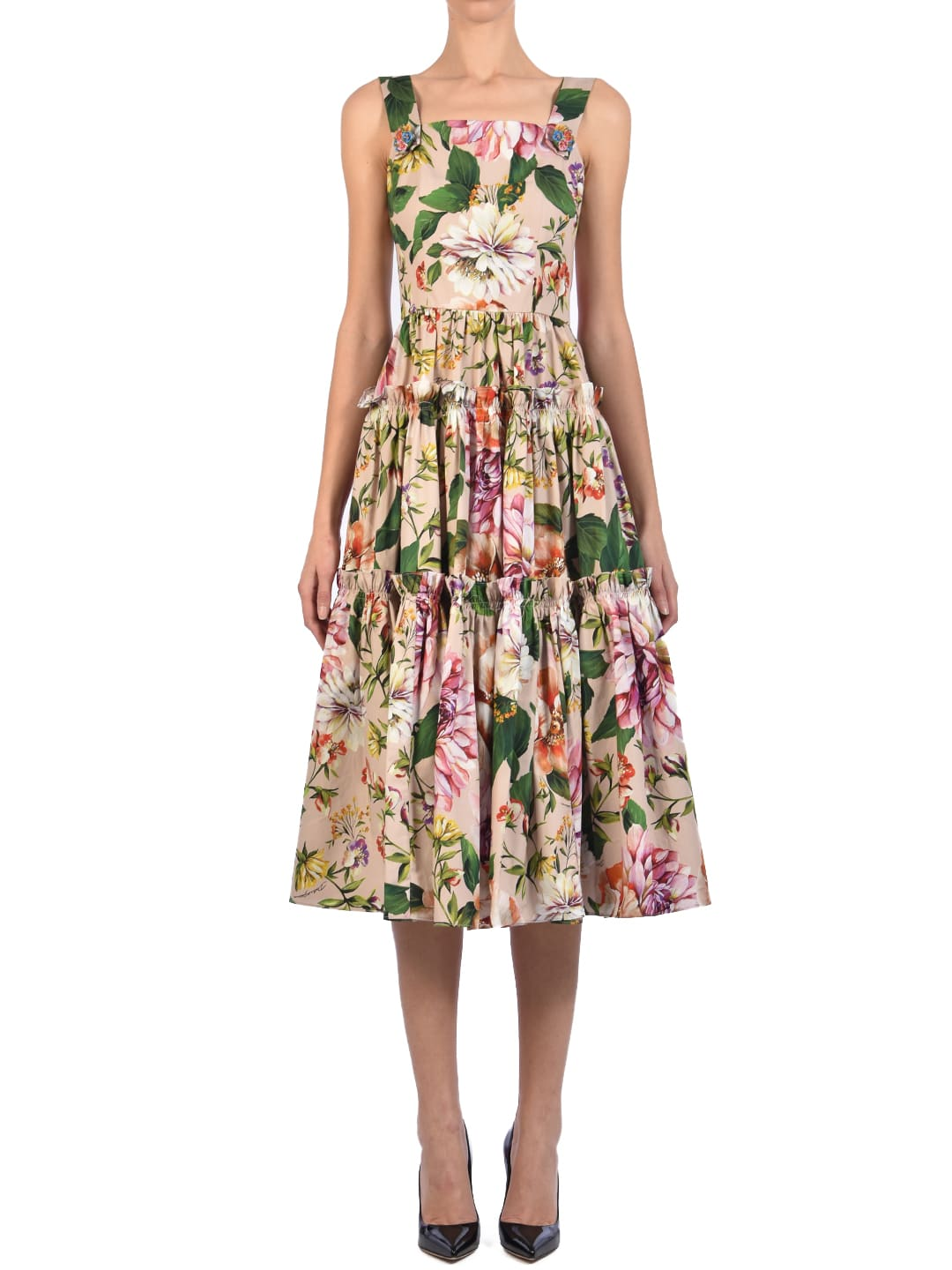 Buy Dolce & Gabbana Floral Dress online, shop Dolce & Gabbana with free shipping