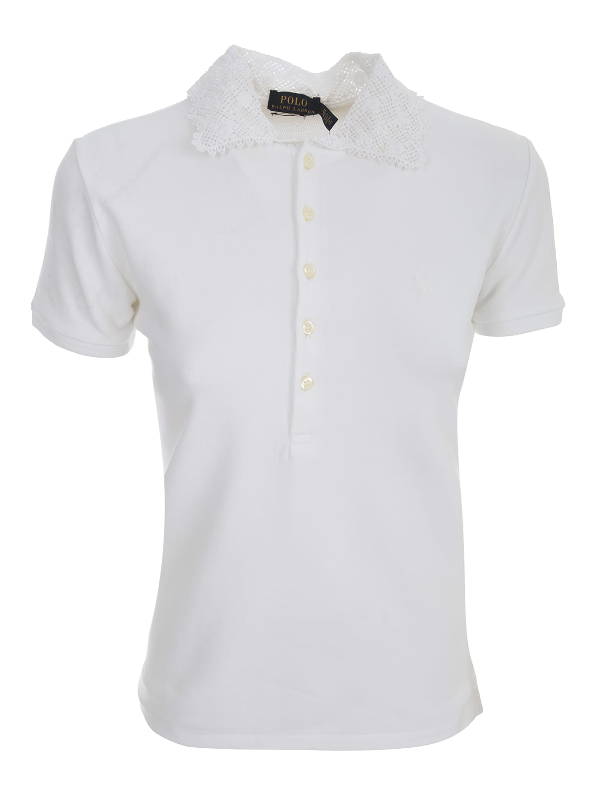 Polo Ralph Lauren Polo S/s W/lace On Neck