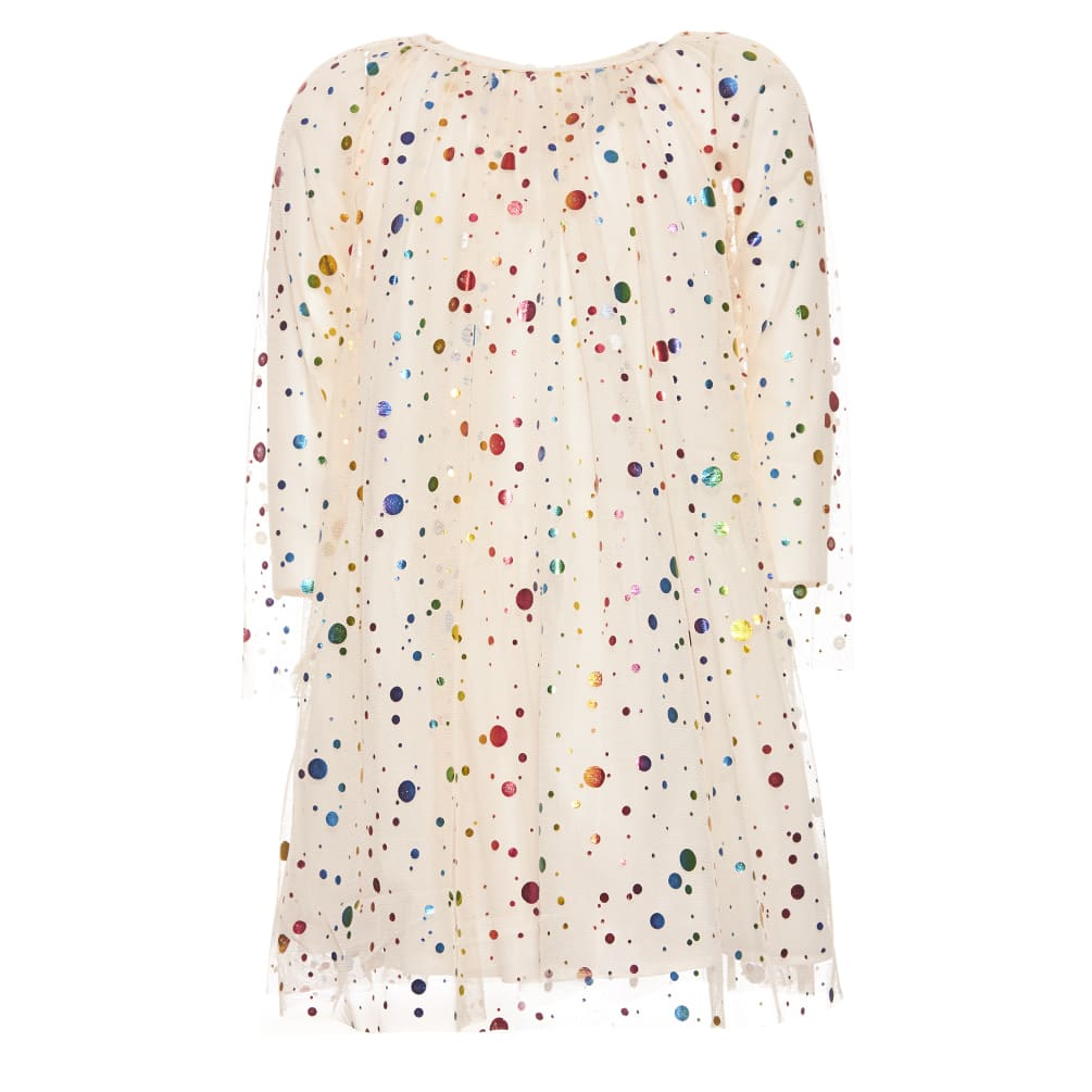 Stella McCartney Foil Dots & Glossy Tulle Dress