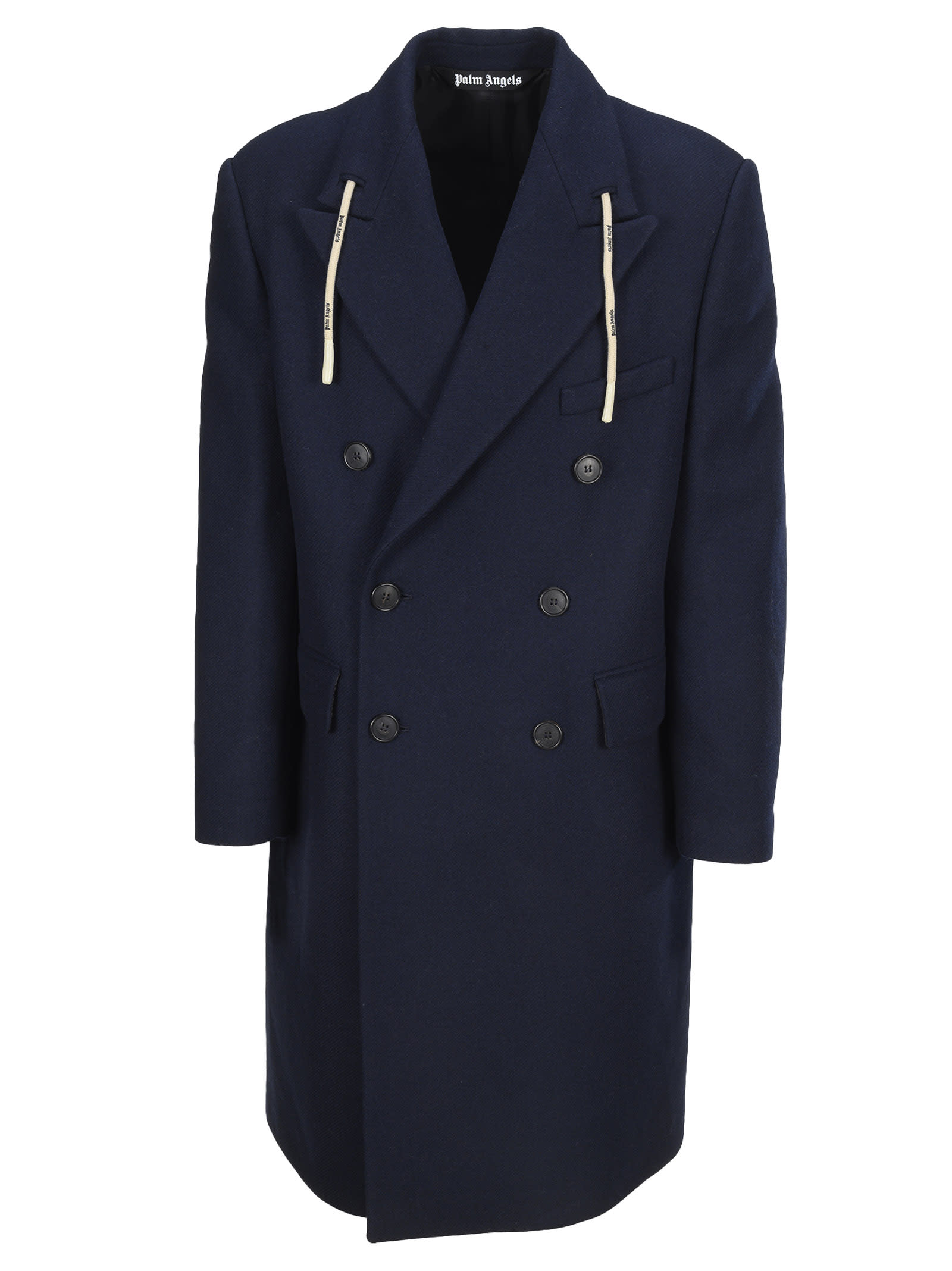 Palm Angels Double Breasted String Coat