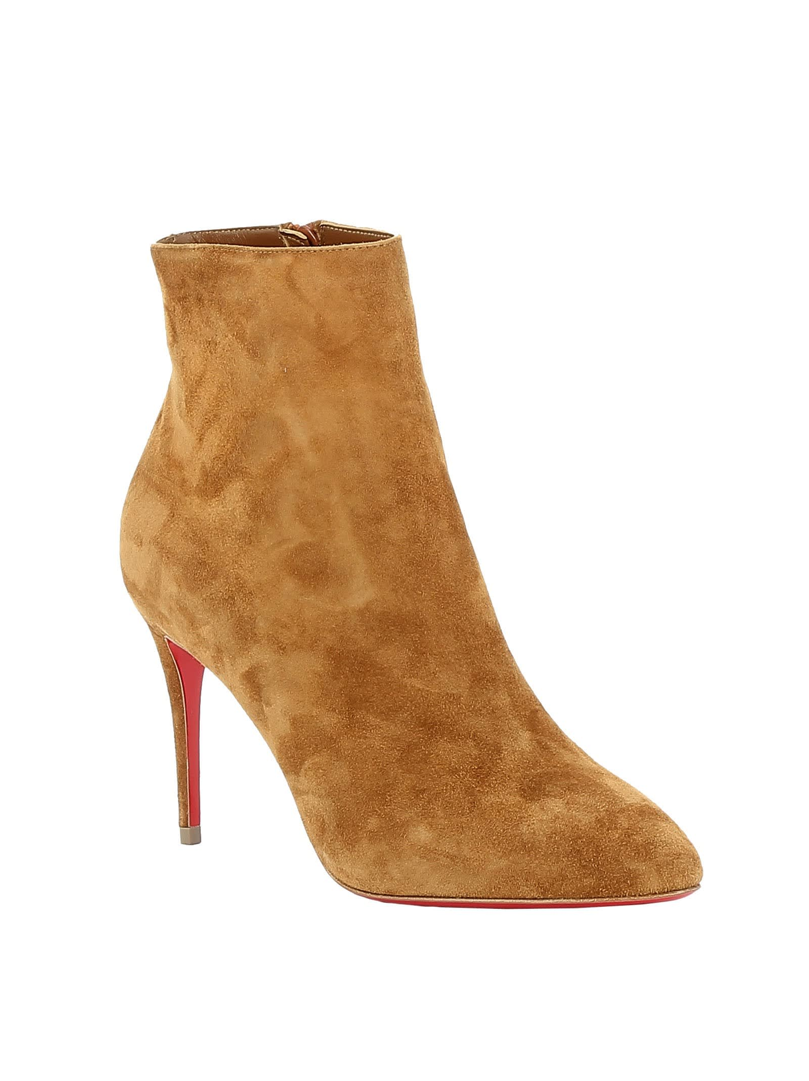 innovative design f1c32 98bd2 Best price on the market at italist | Christian Louboutin Christian  Louboutin Cuoio Suede Ankle Boots