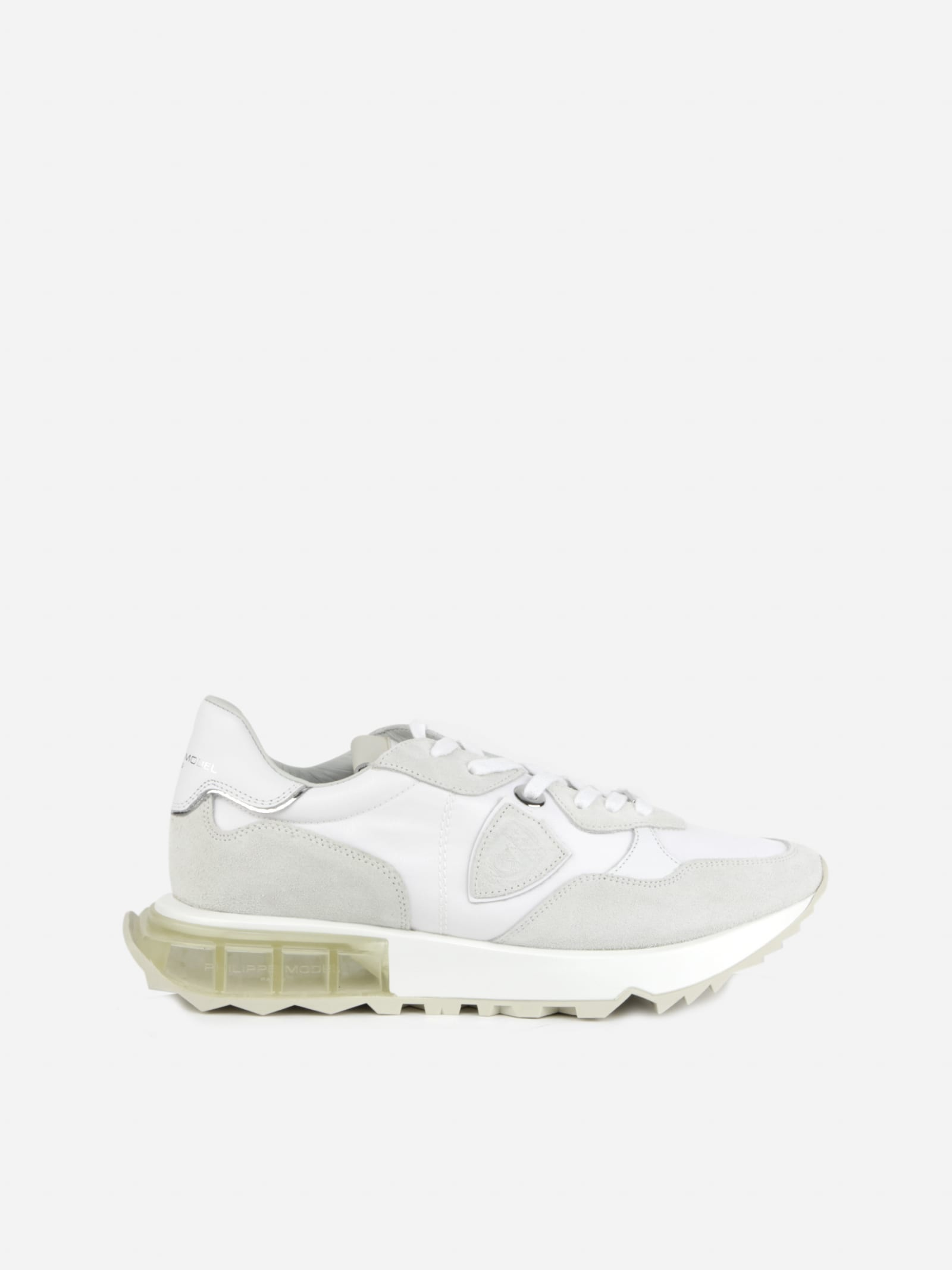 Philippe Model Sports LA RUE MONDIAL SNEAKERS IN LEATHER AND SUEDE