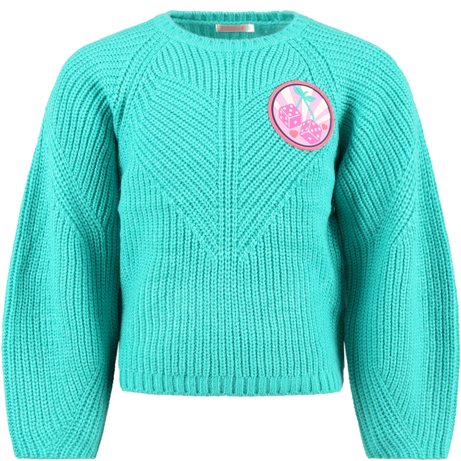 Green Sweater For Girl With Logo