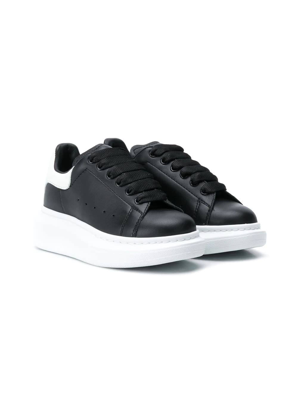 Alexander McQueen Kids Black Oversize Sneakers With White Spoiler