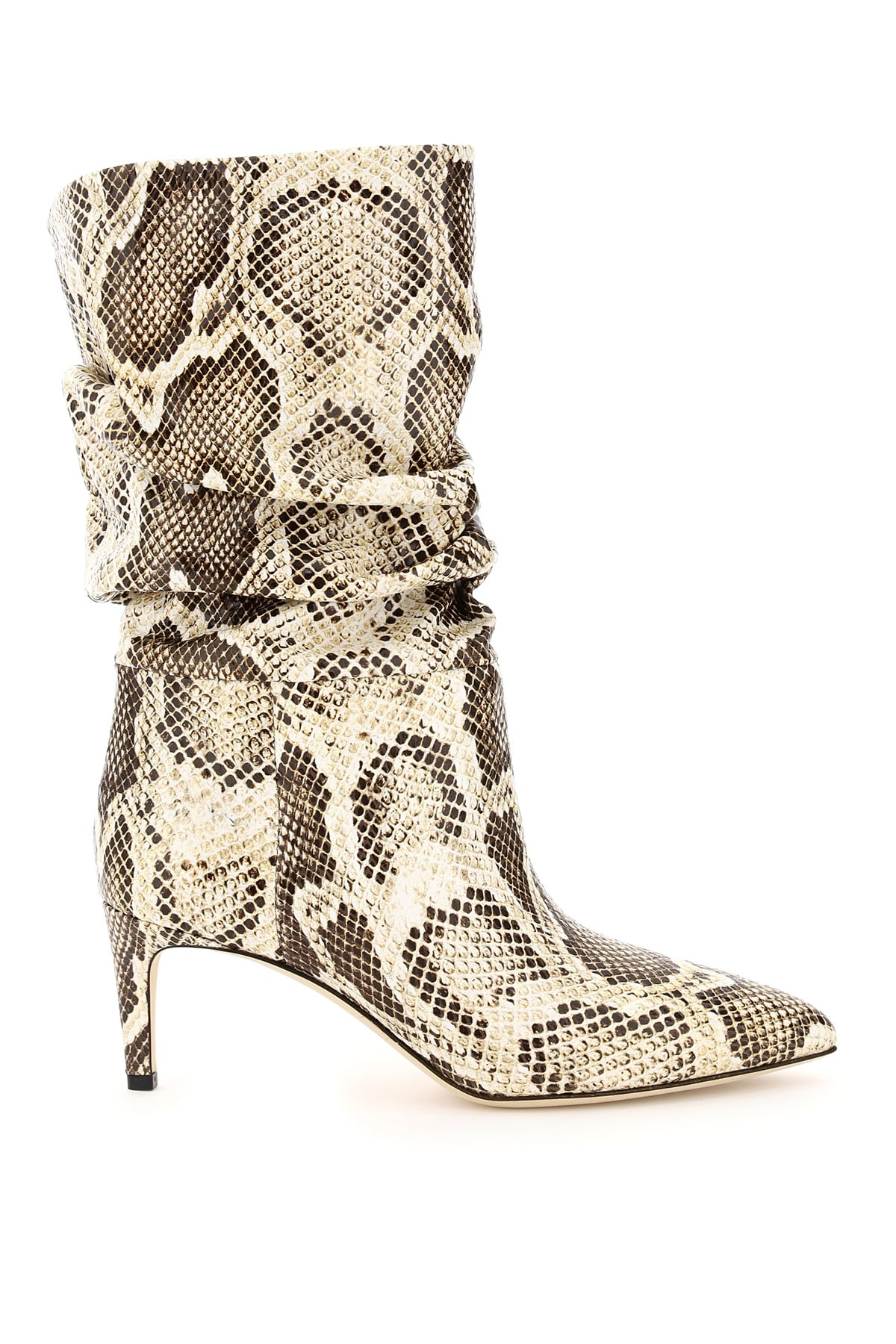 Paris Texas Python Print Slouchy Boots