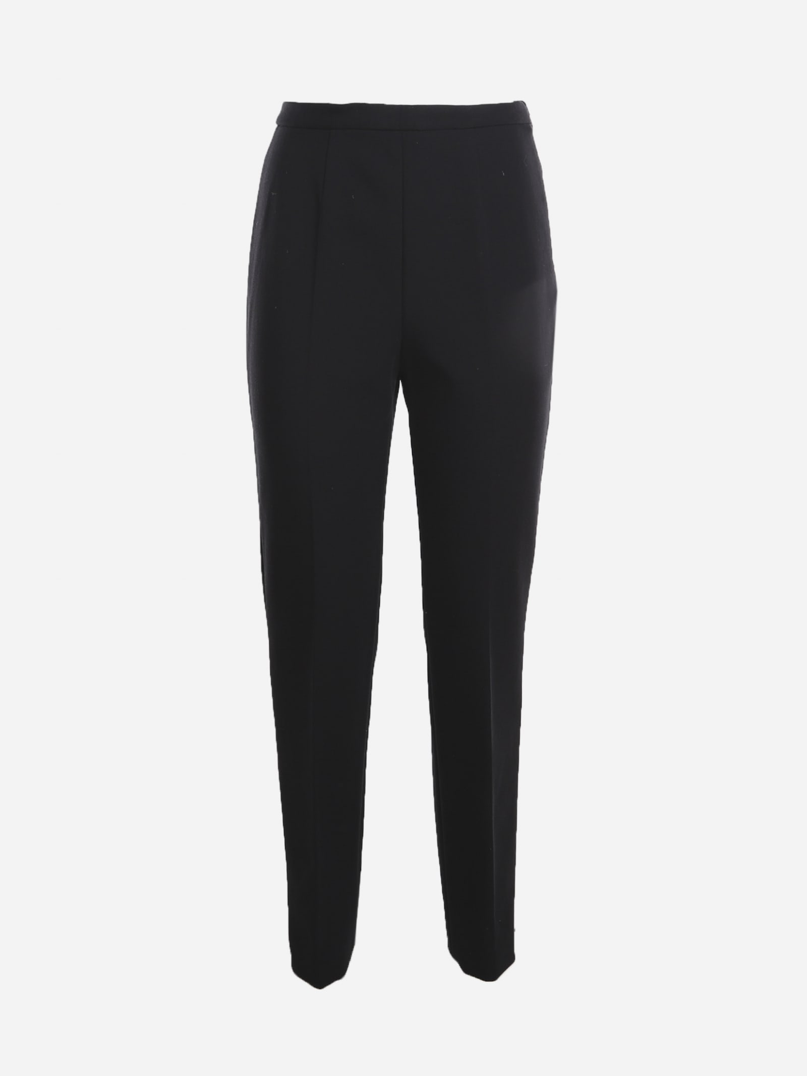 High-waisted Trousers In Wool Blend