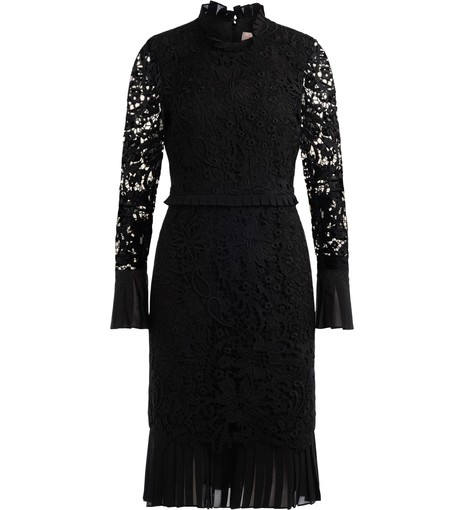 Buy Tory Burch Floral Pencil Dress Made Of Black Lace online, shop Tory Burch with free shipping