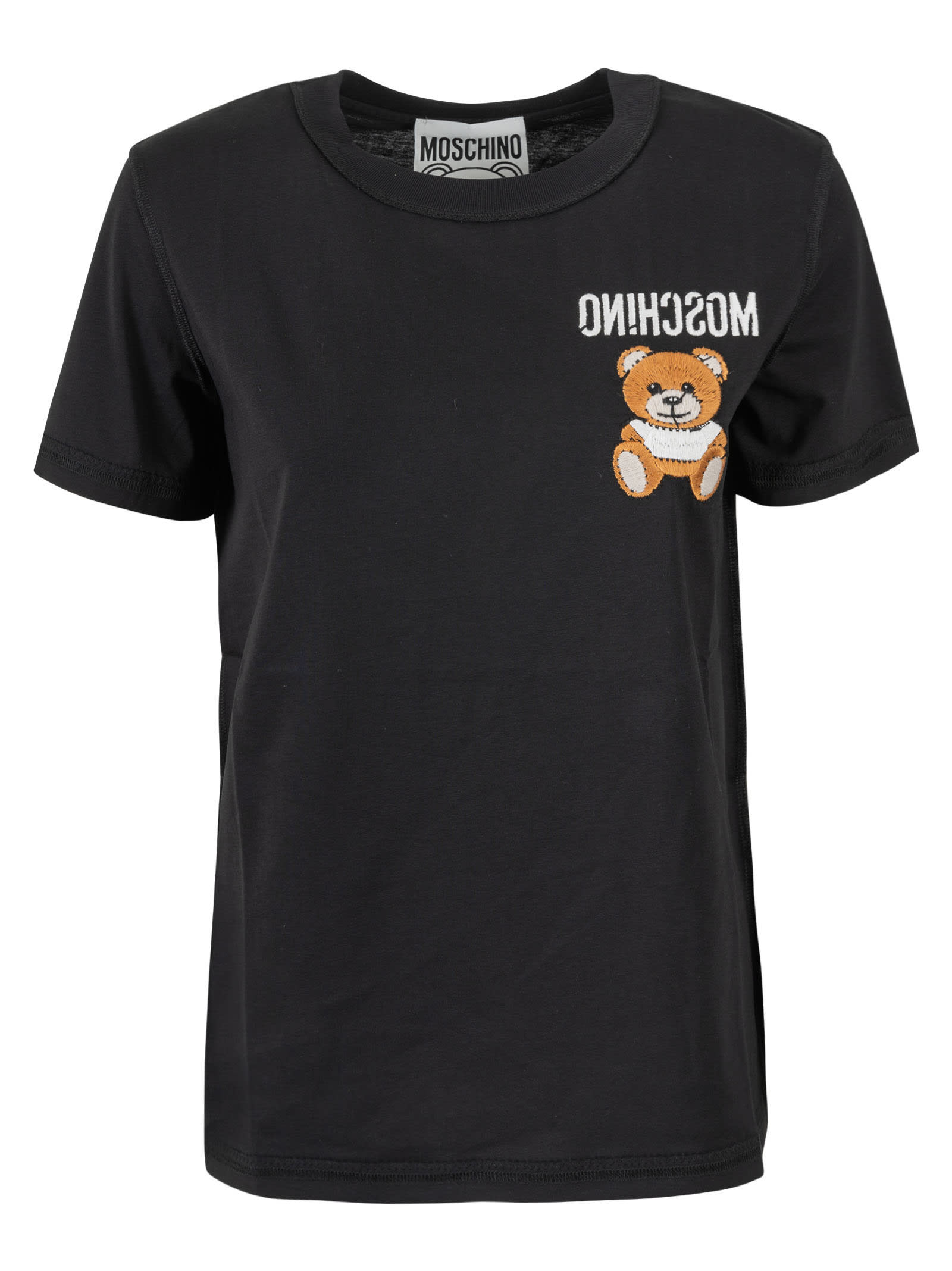Moschino Cottons BEAR EMBROIDERED T-SHIRT