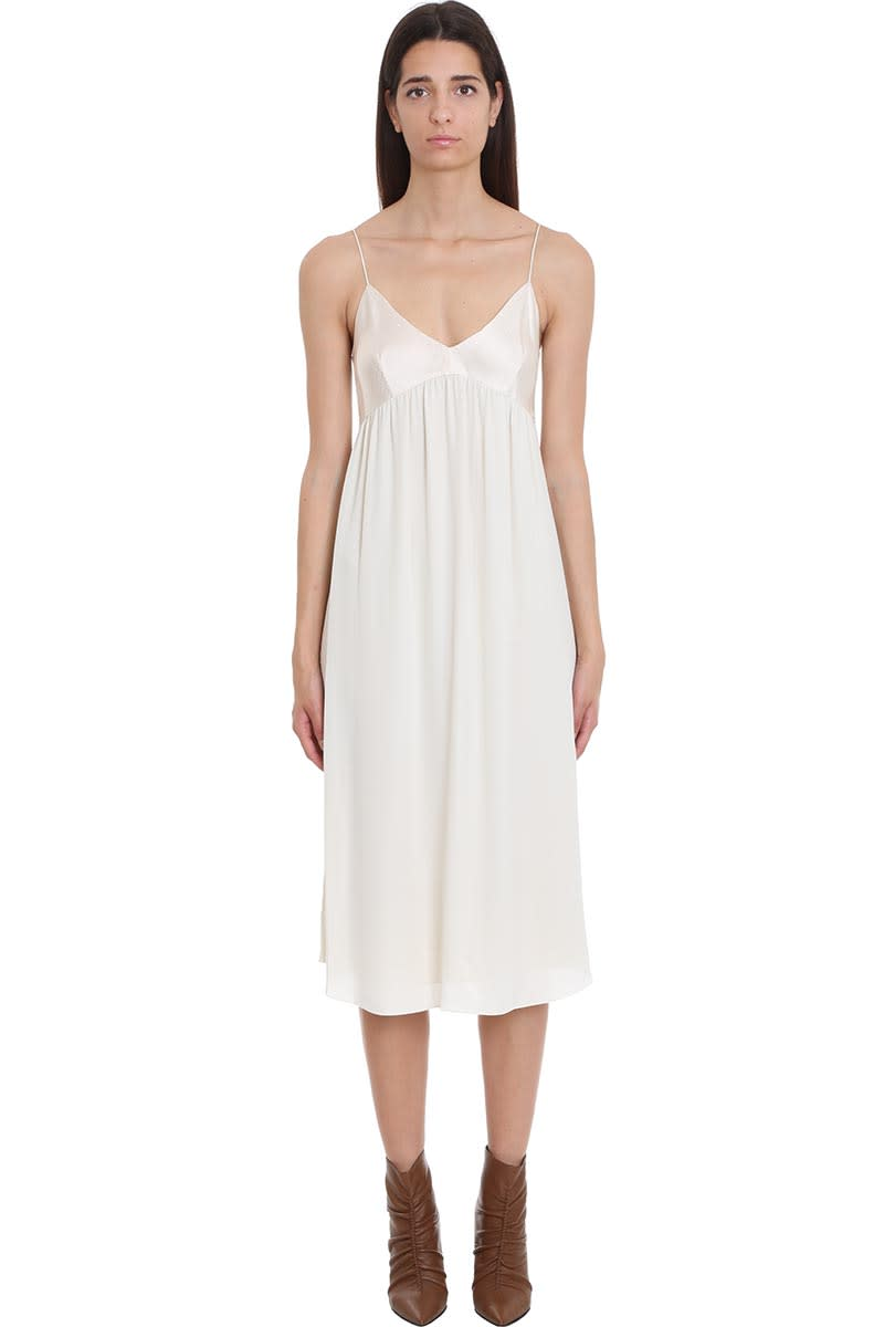 Buy Theory Dress In Beige Silk online, shop Theory with free shipping