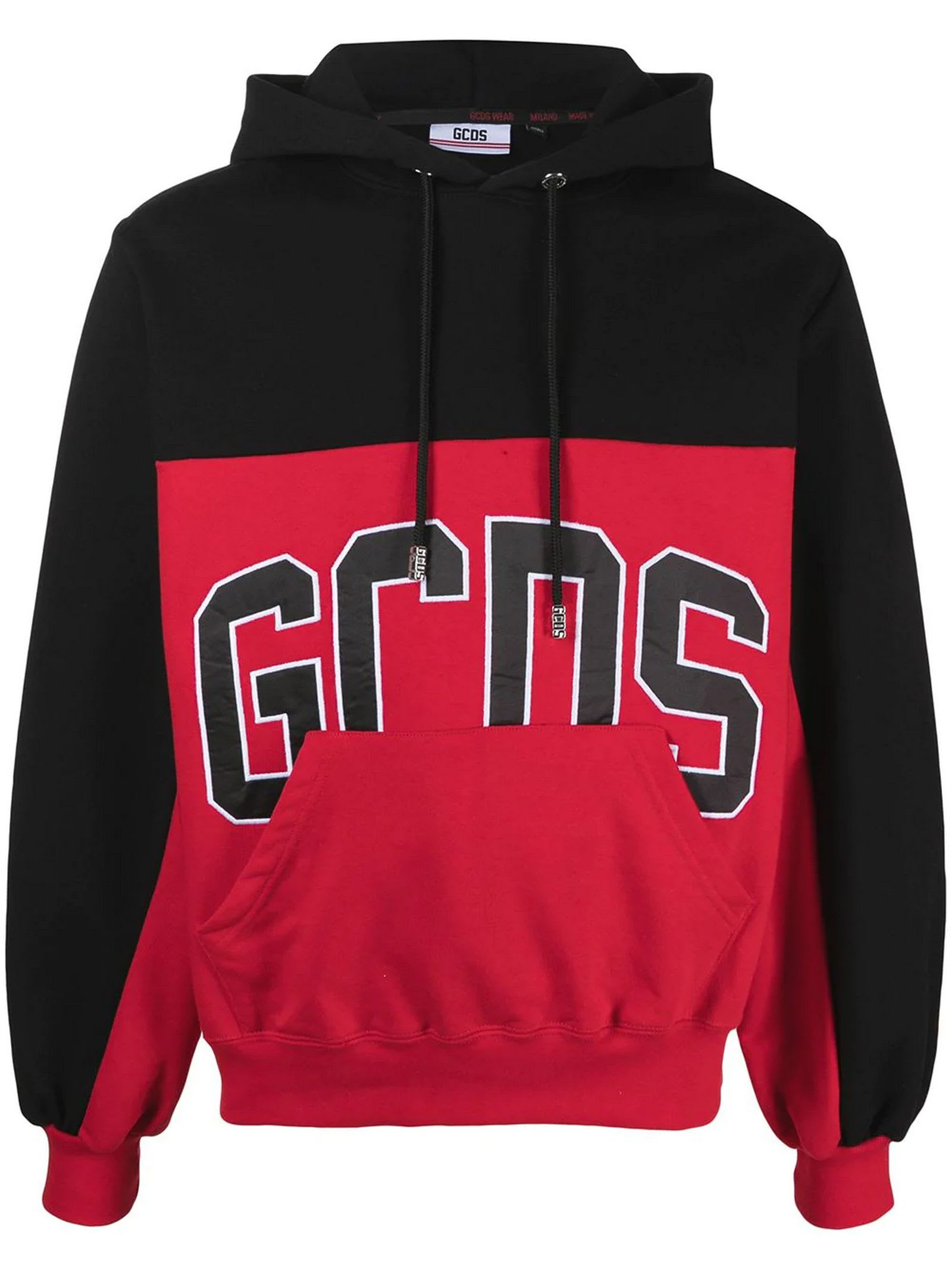 Black And Red Cotton Hoodie