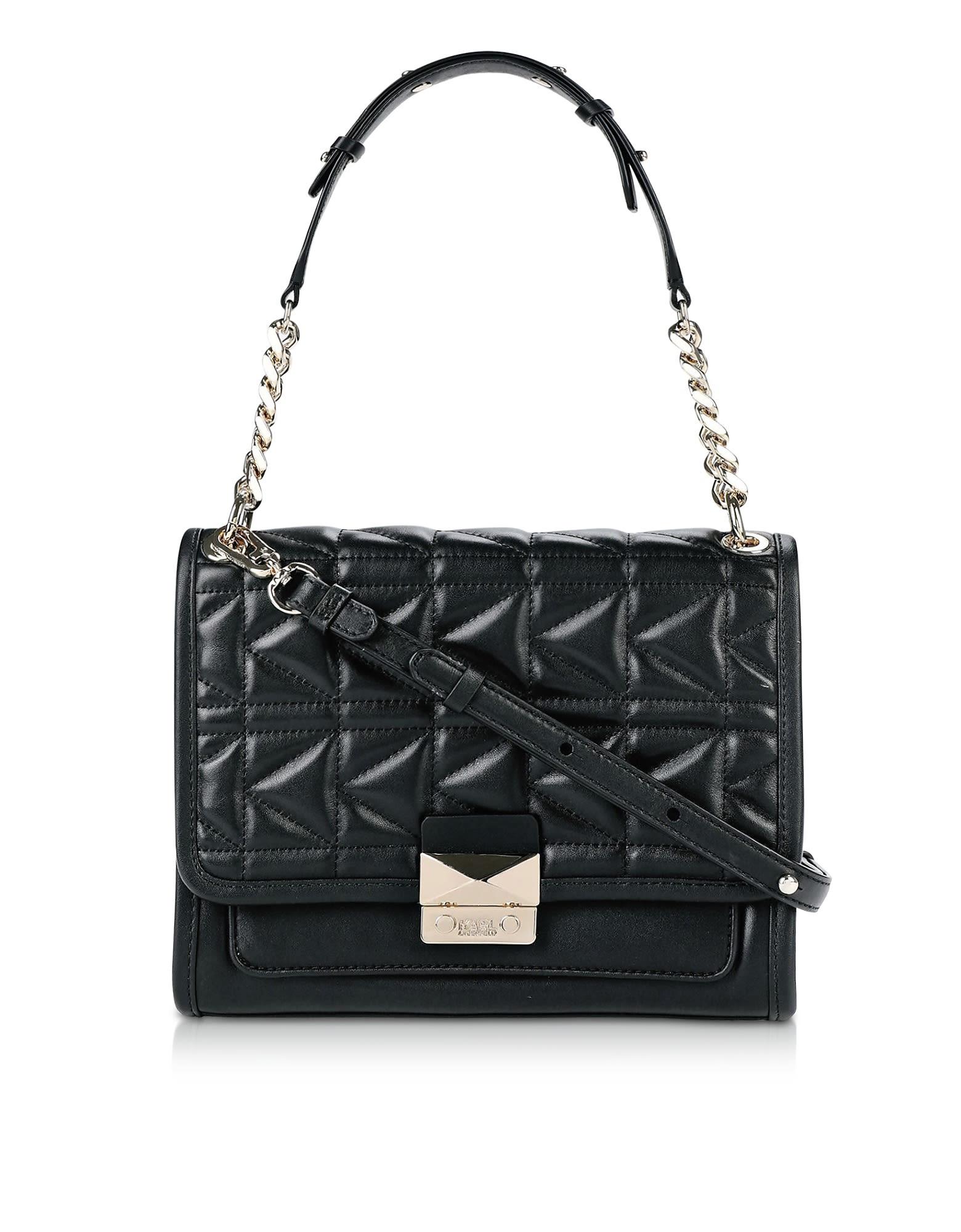detailed images outlet boutique hot sale Karl Lagerfeld Karl Lagerfeld K/kuilted Leather Shoulder Bag ...