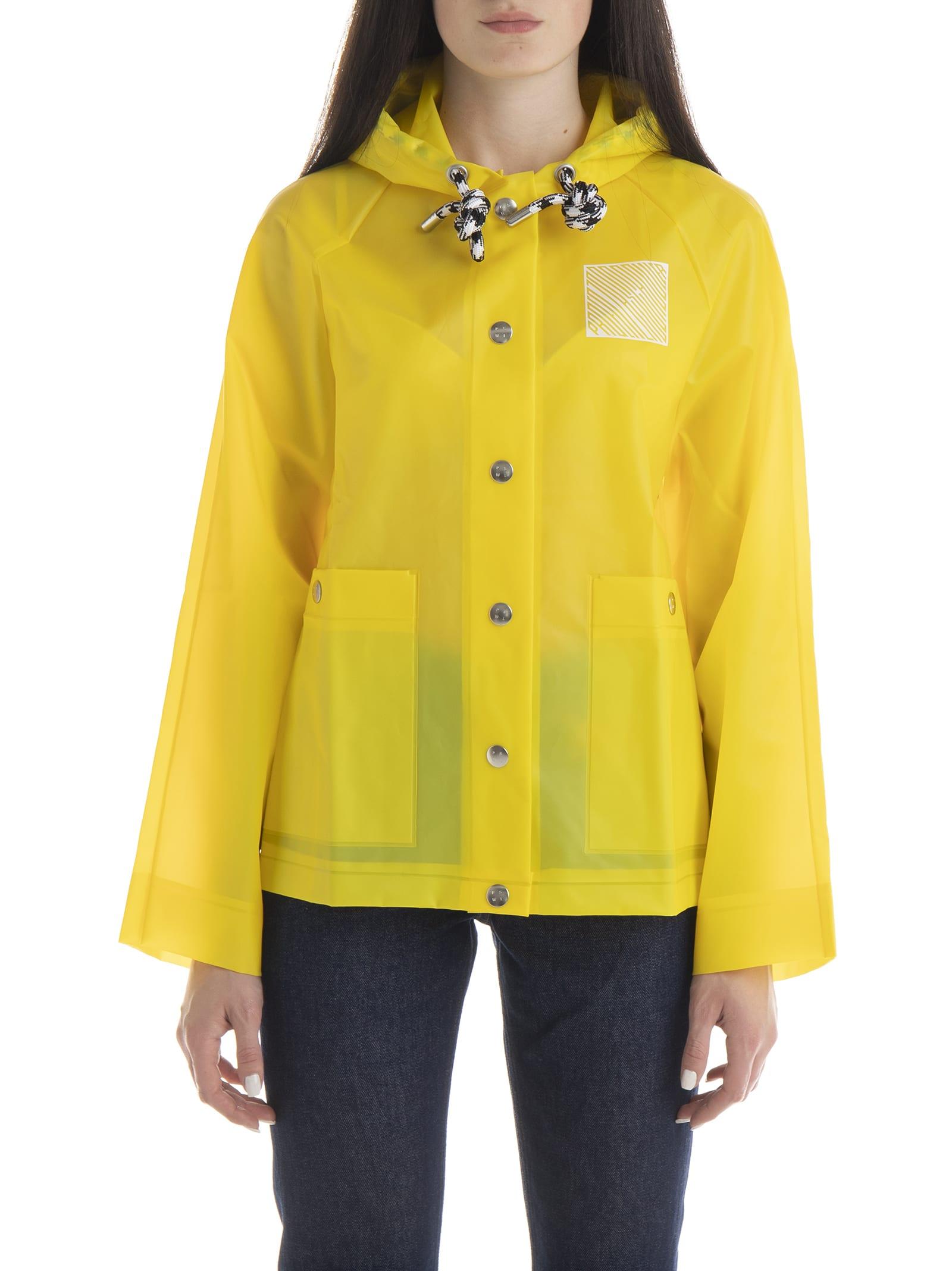 Photo of  Proenza Schouler Short Raincoat Printed Raincoat- shop Proenza Schouler jackets online sales