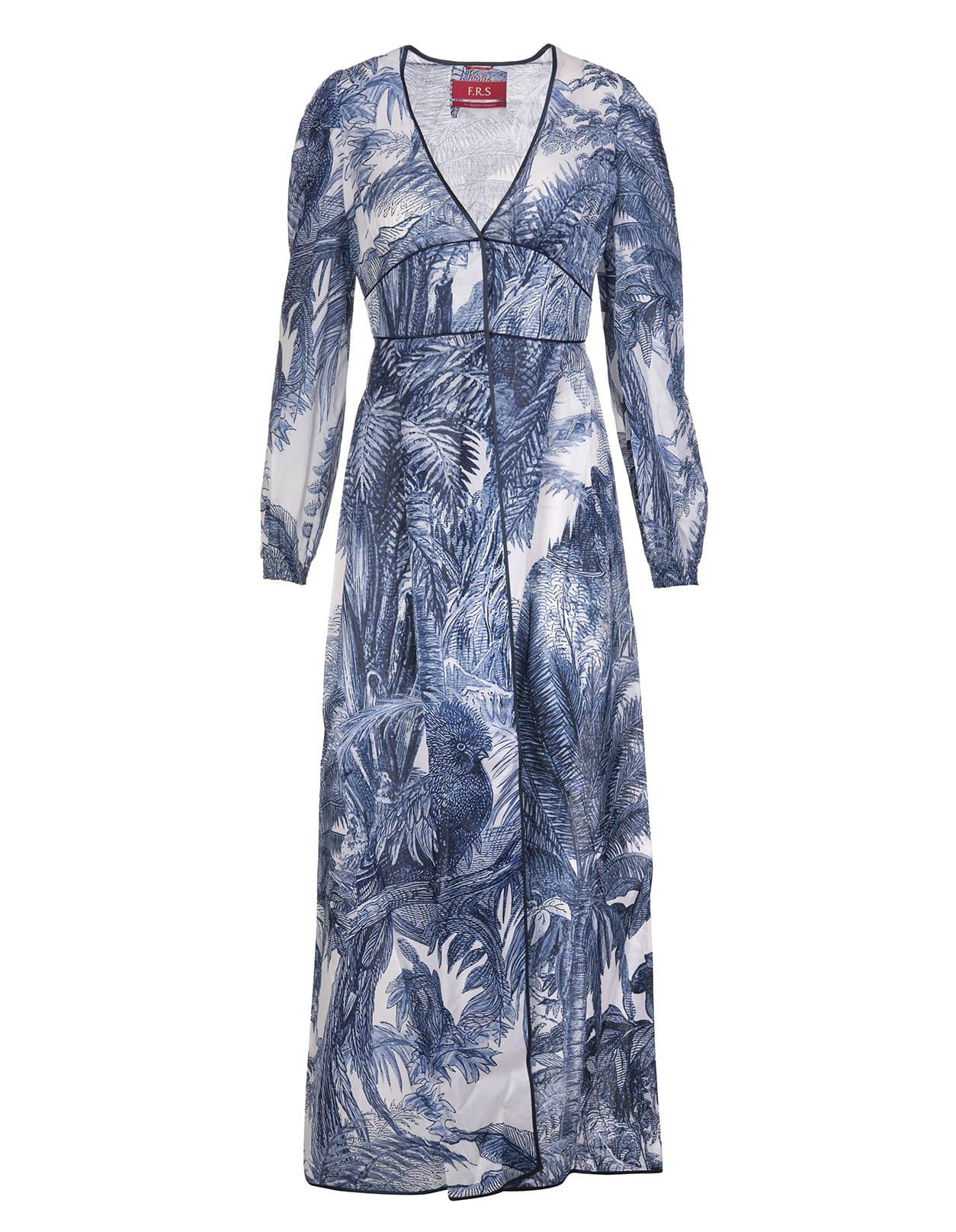 Blue Ecate Long Dress