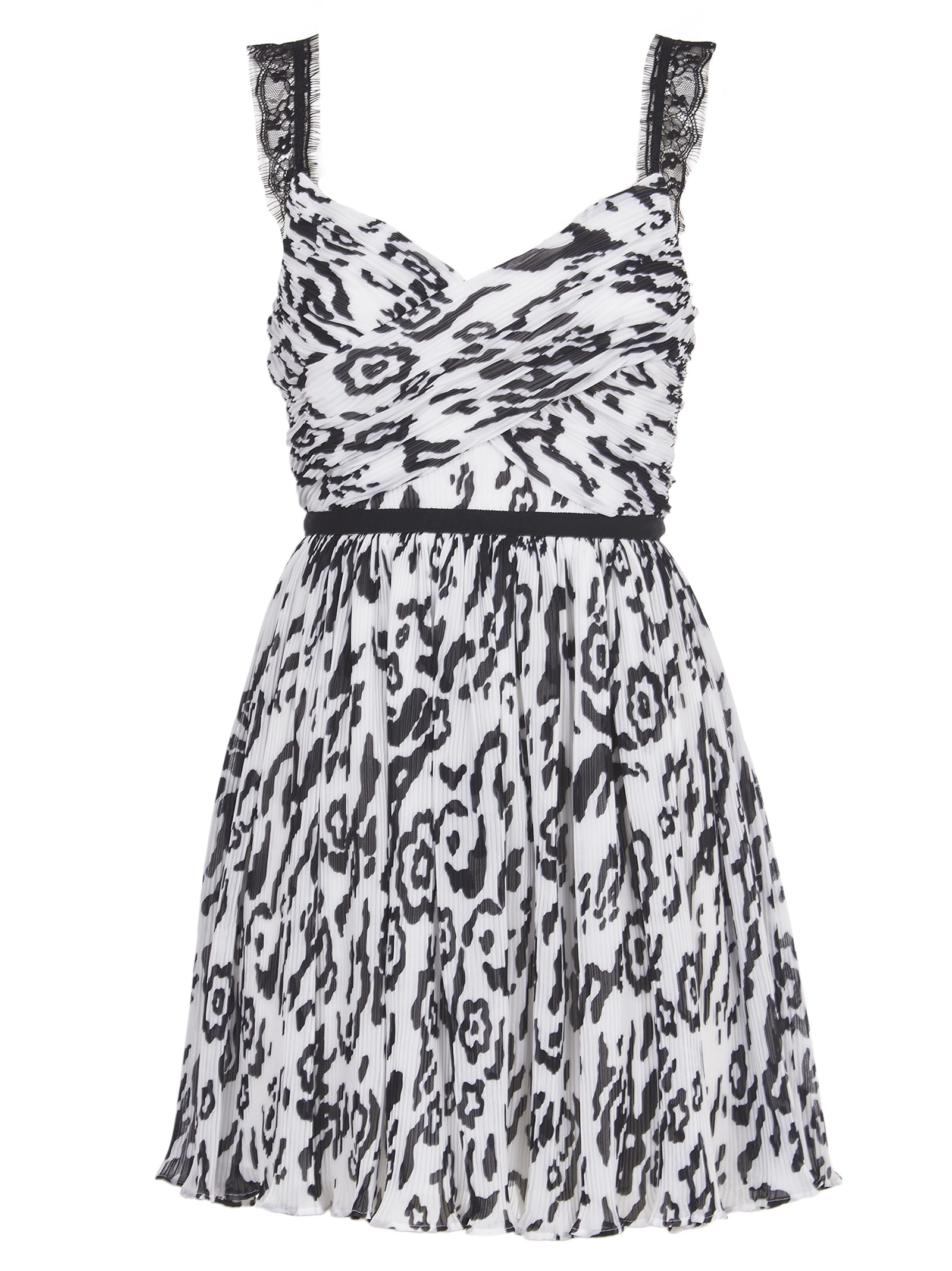 Buy self-portrait Black And White Mini Dress online, shop self-portrait with free shipping